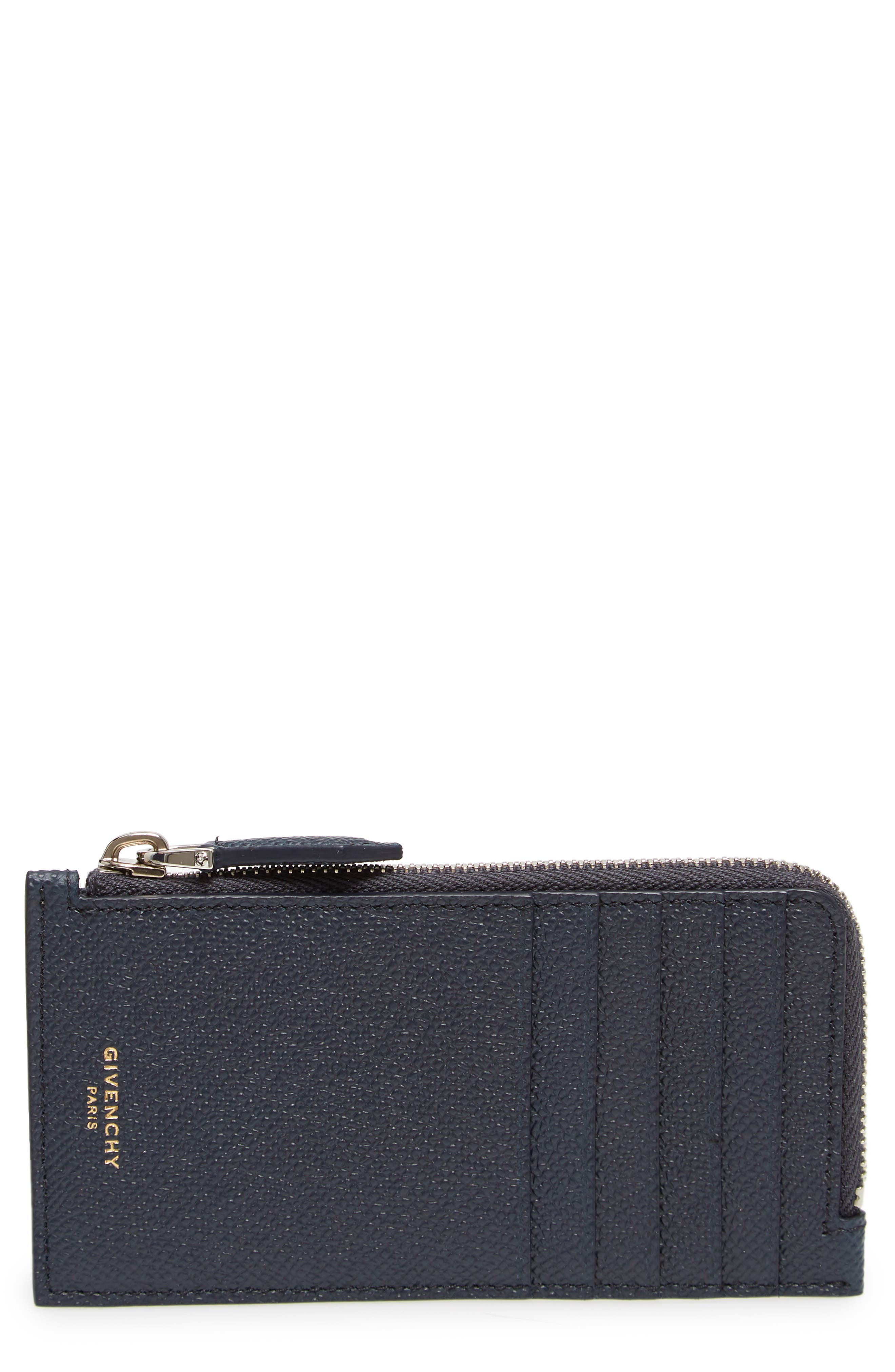 Eros Large Leather Zip Card Case,                         Main,                         color, 410