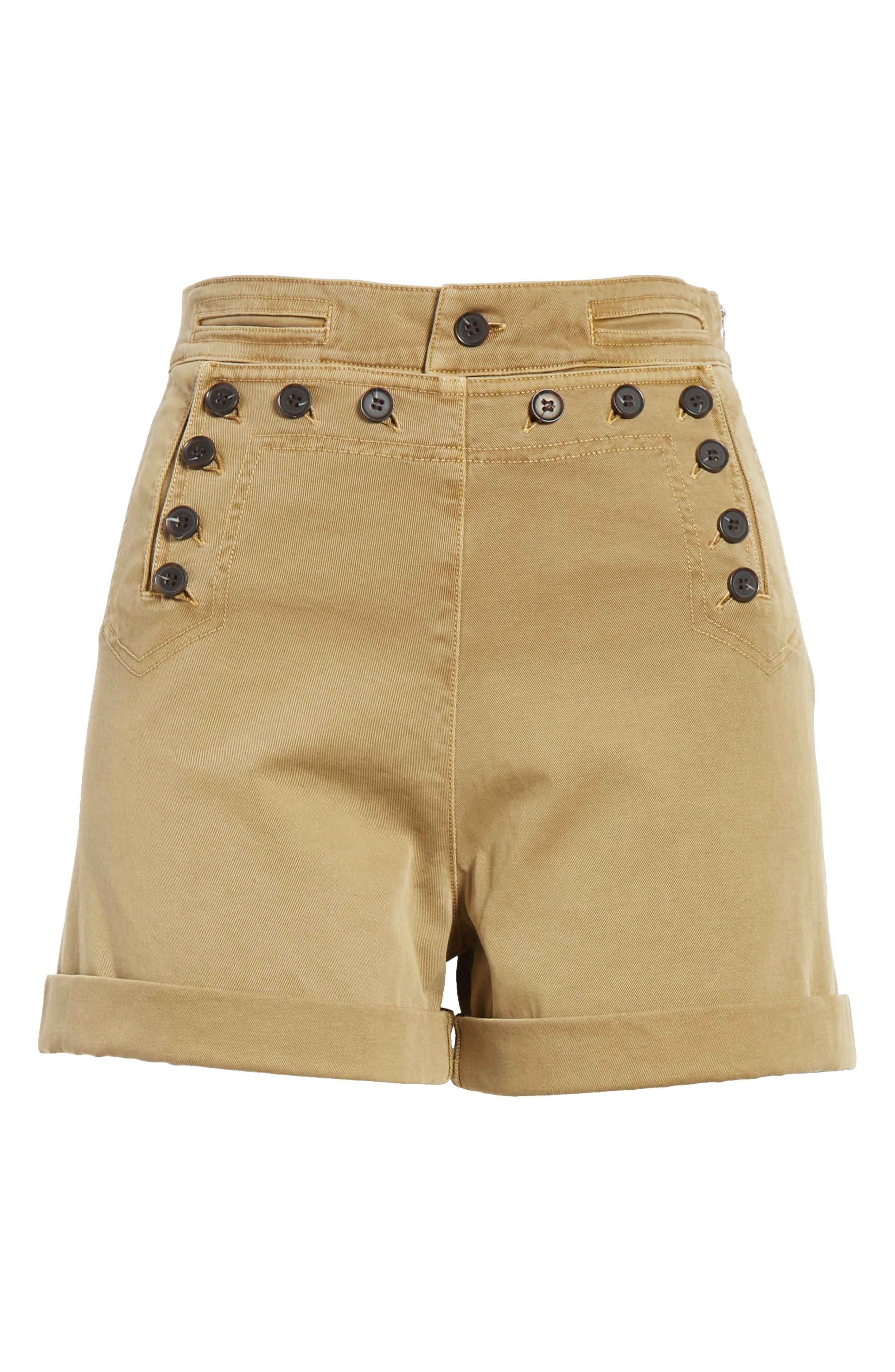 Pierce High Waist Sailor Shorts,                             Alternate thumbnail 6, color,