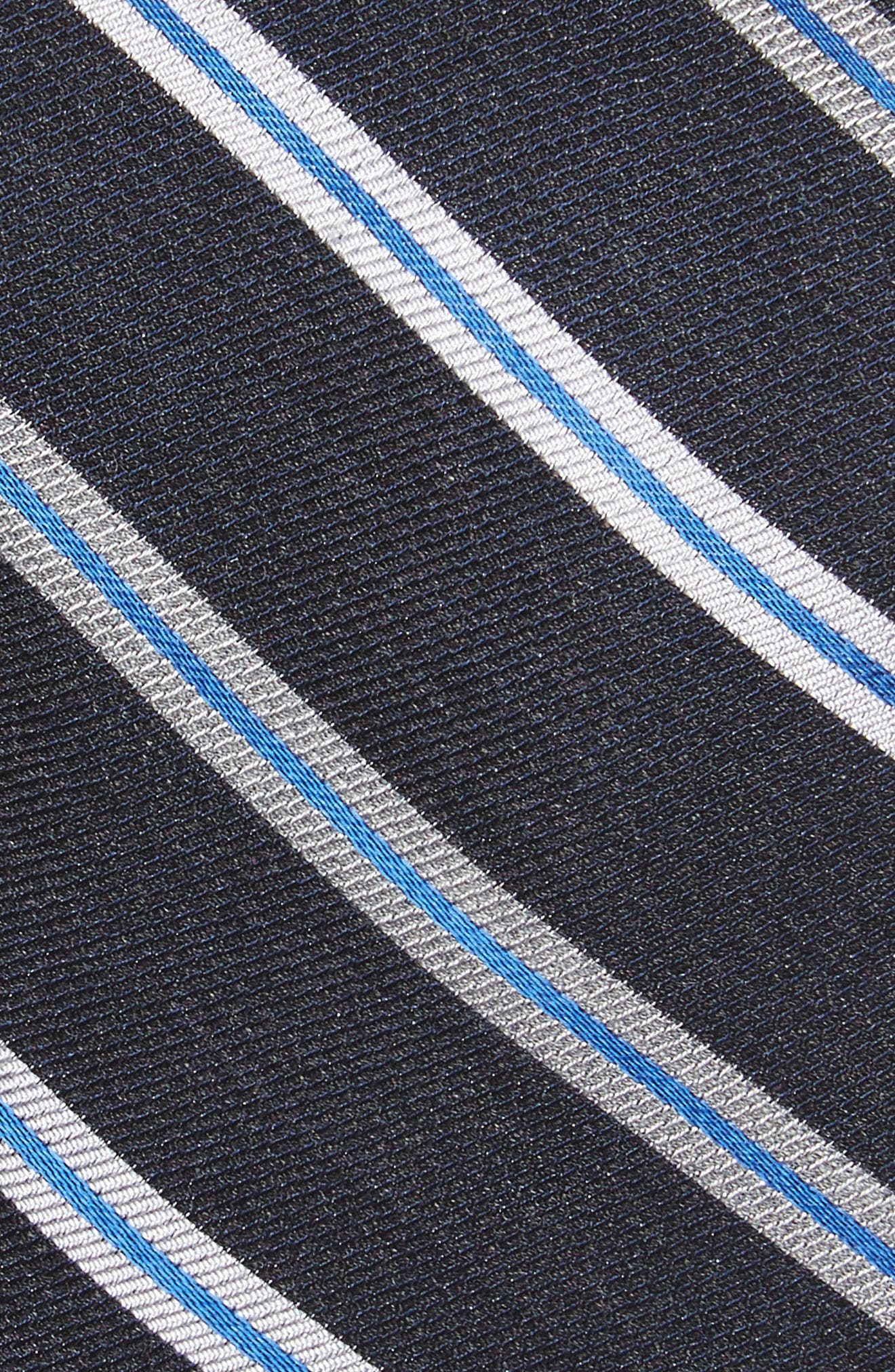 Crosby Stripe Silk Blend Tie,                             Alternate thumbnail 2, color,                             001