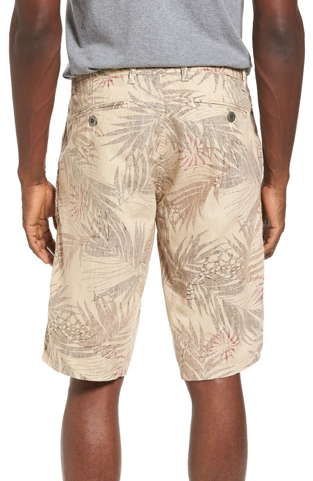 Havana Print Linen Shorts,                             Main thumbnail 1, color,                             280