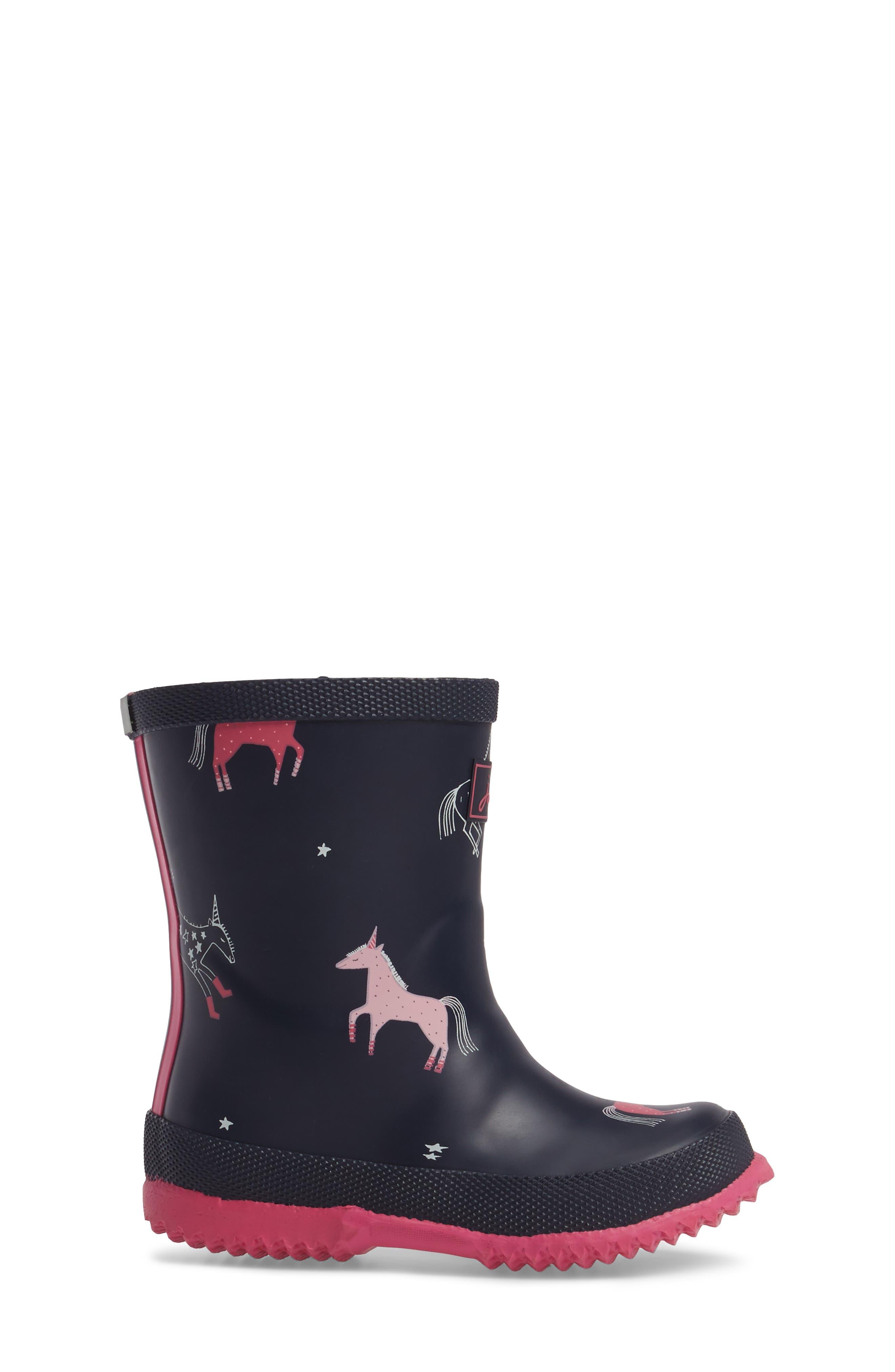 Printed Waterproof Rain Boot,                             Alternate thumbnail 3, color,                             400