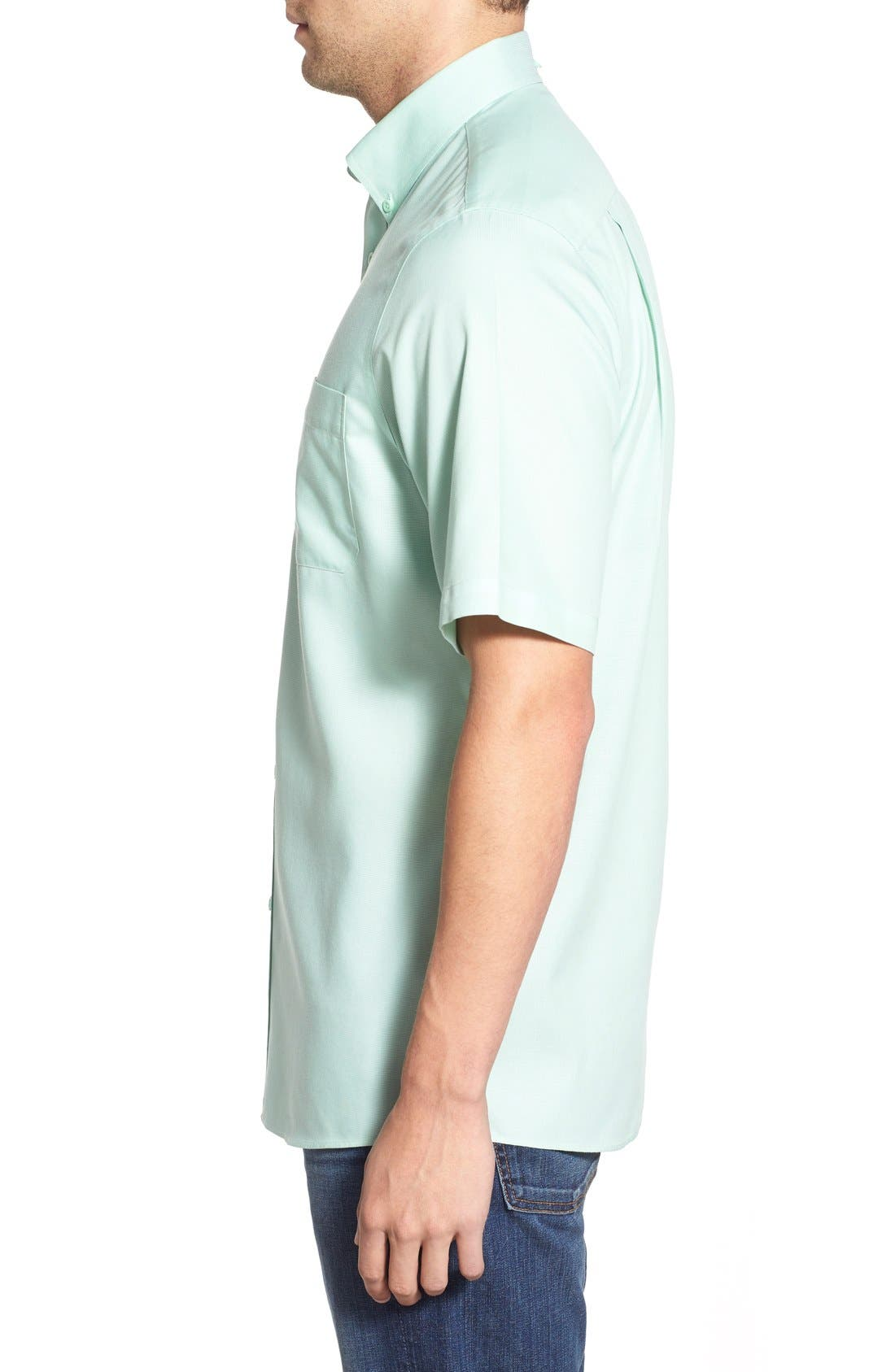 'Classic' Smartcare<sup>™</sup> Regular Fit Short Sleeve Cotton Sport Shirt,                             Alternate thumbnail 84, color,