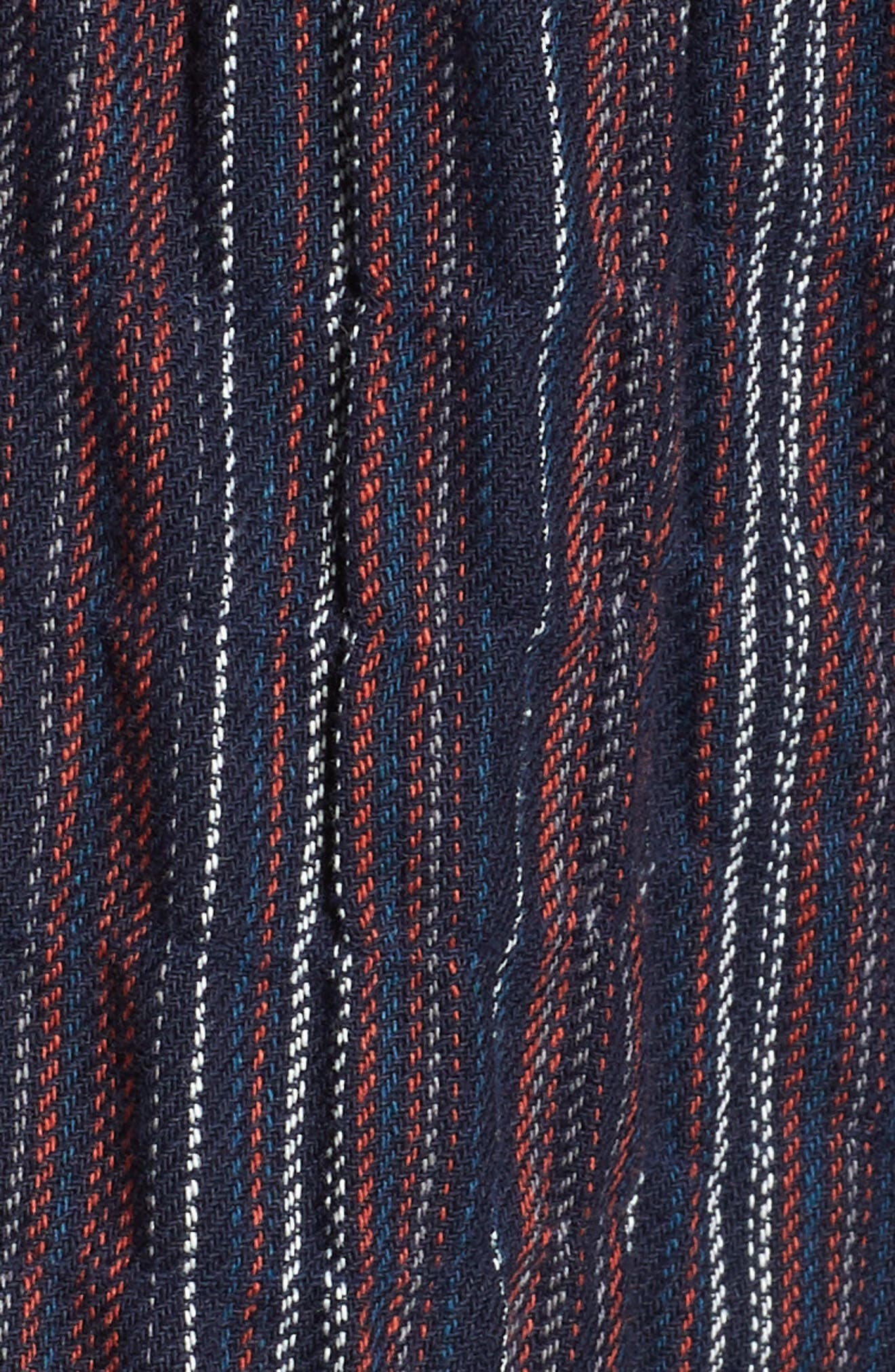 Stripe Off the Shoulder Dress,                             Alternate thumbnail 6, color,                             411