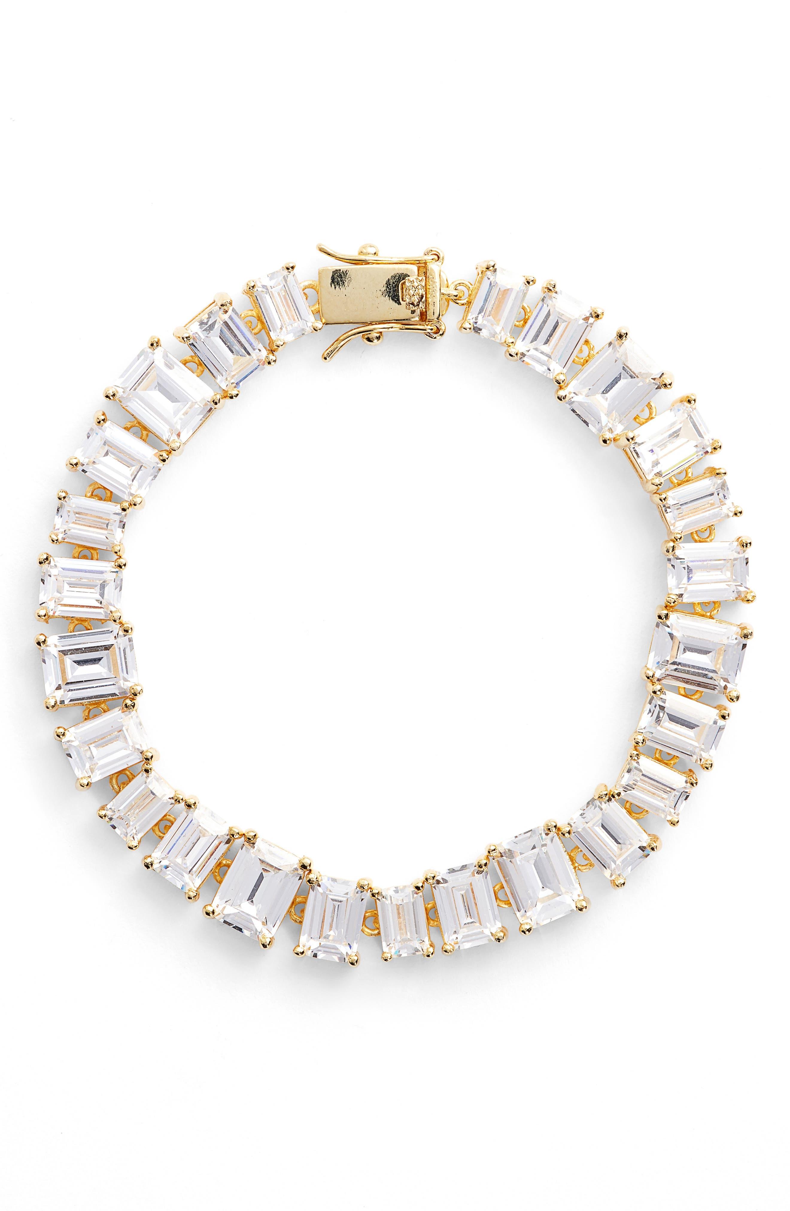 Cubic Zirconia Tennis Bracelet,                             Main thumbnail 3, color,