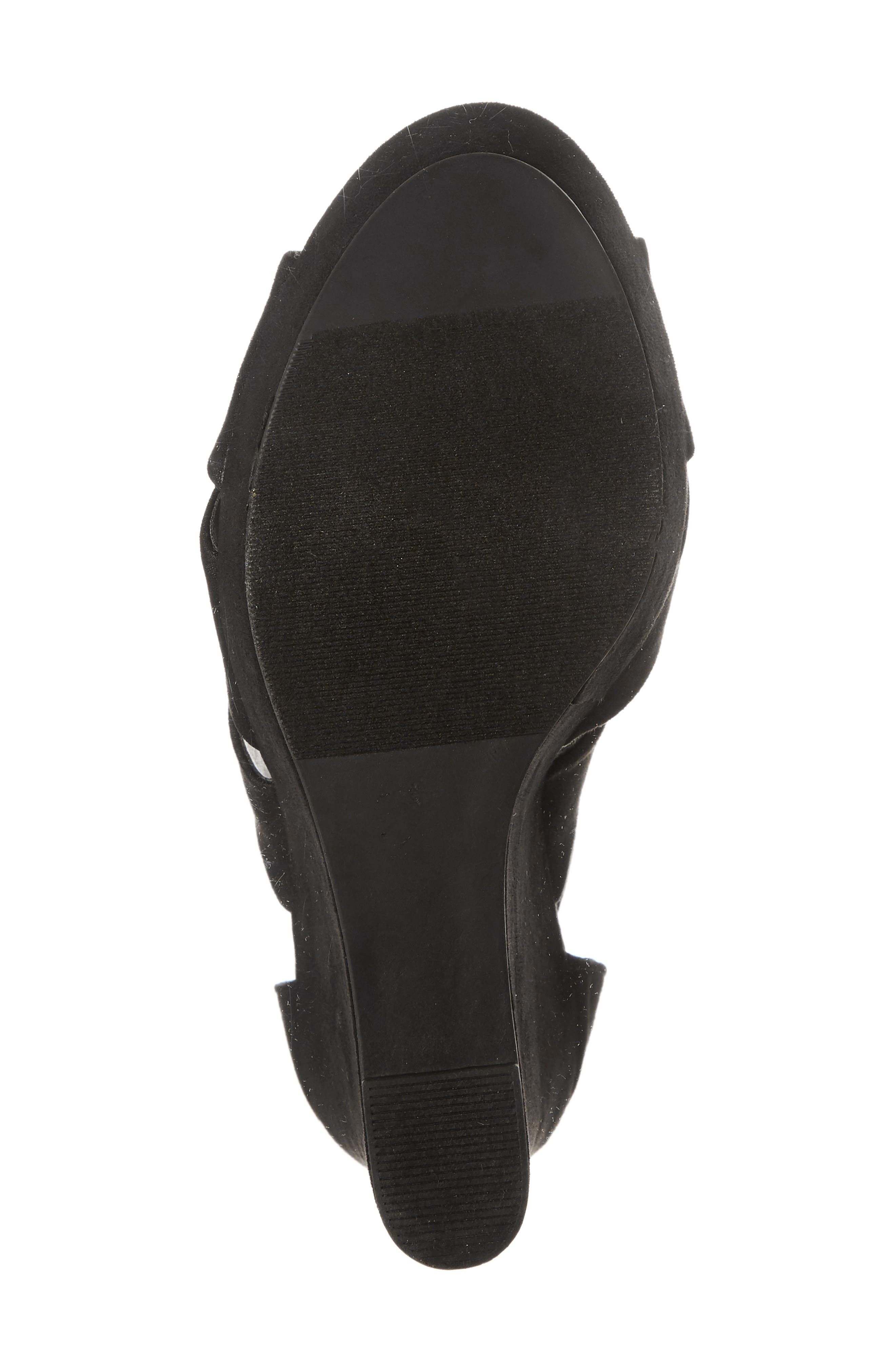 Milani Platform Wedge Sandal,                             Alternate thumbnail 6, color,                             BLACK