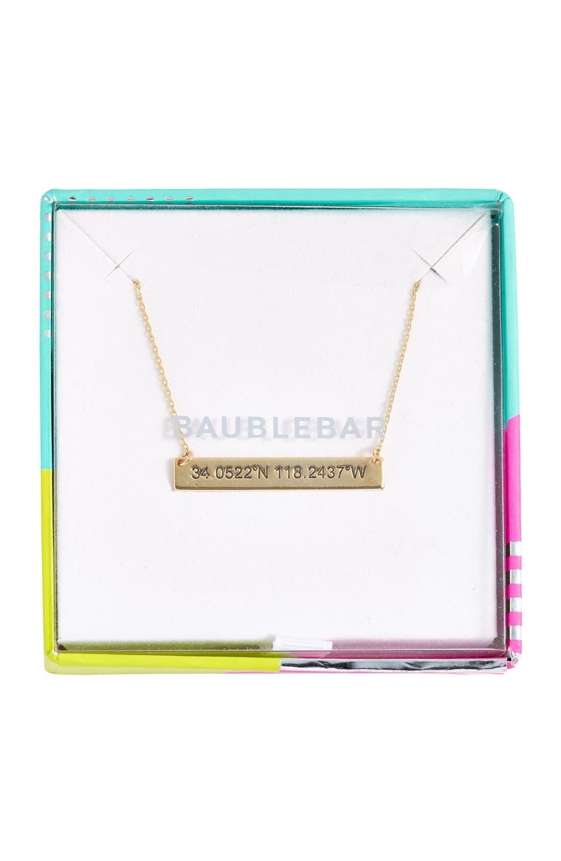 Coordinate Bar Pendant Necklace,                             Alternate thumbnail 17, color,