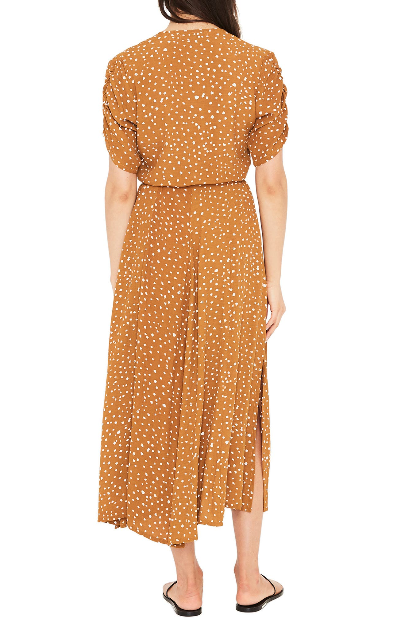 Chiara Dot Print Wrap Dress,                             Alternate thumbnail 2, color,                             700