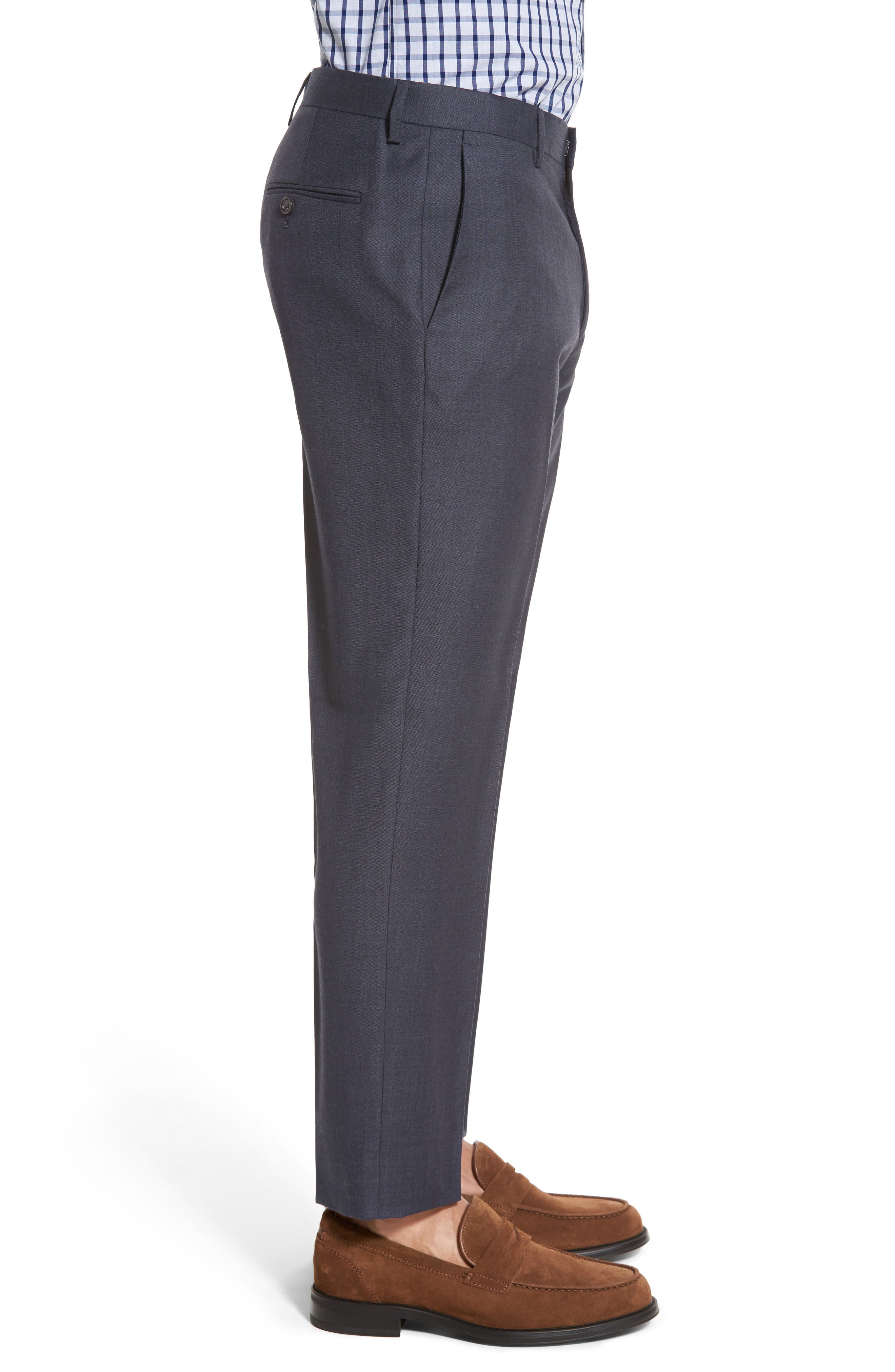 Ludlow Flat Front Solid Wool Trousers,                             Alternate thumbnail 8, color,