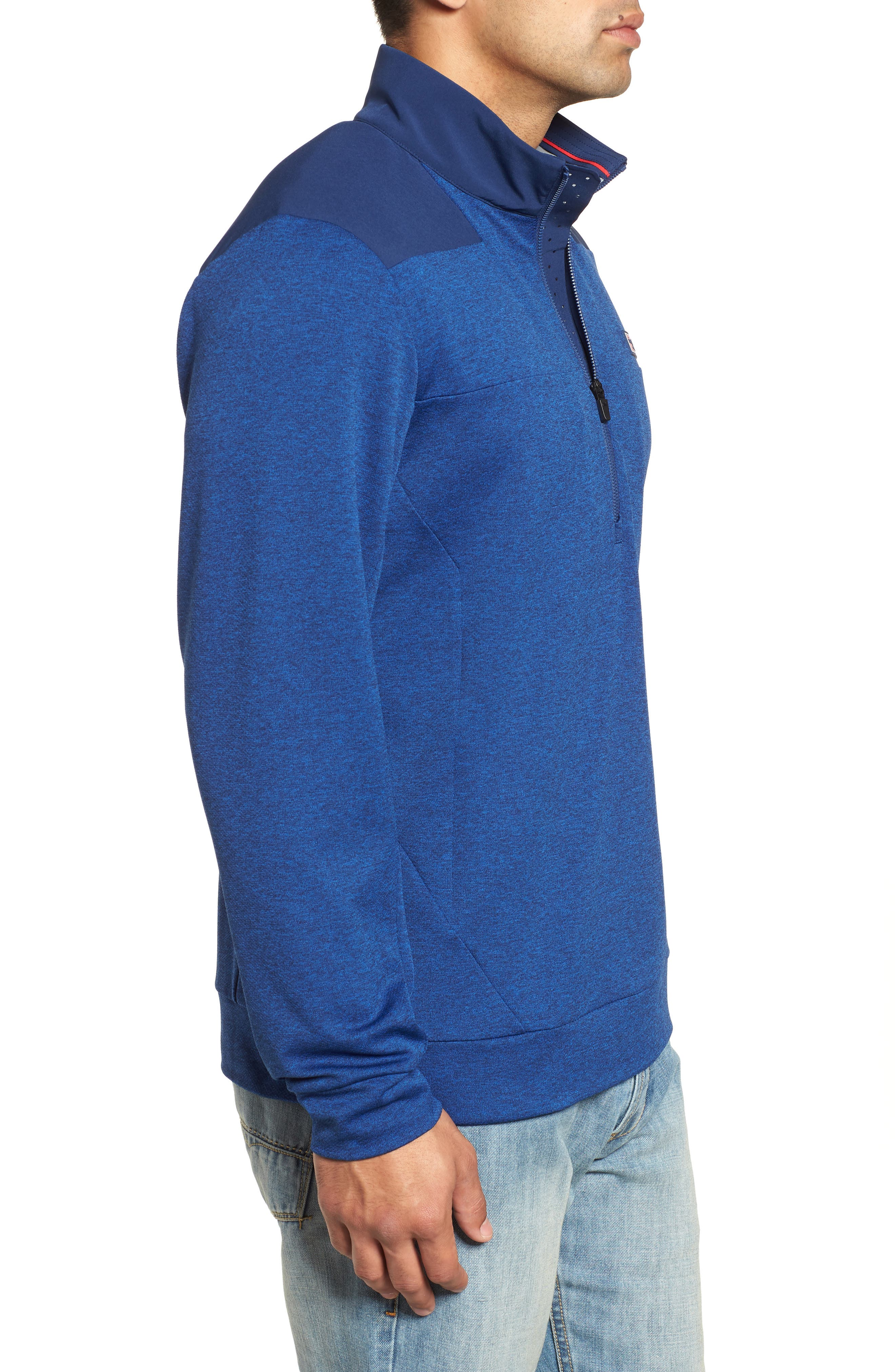 Performance Quarter Zip Pullover,                             Alternate thumbnail 7, color,