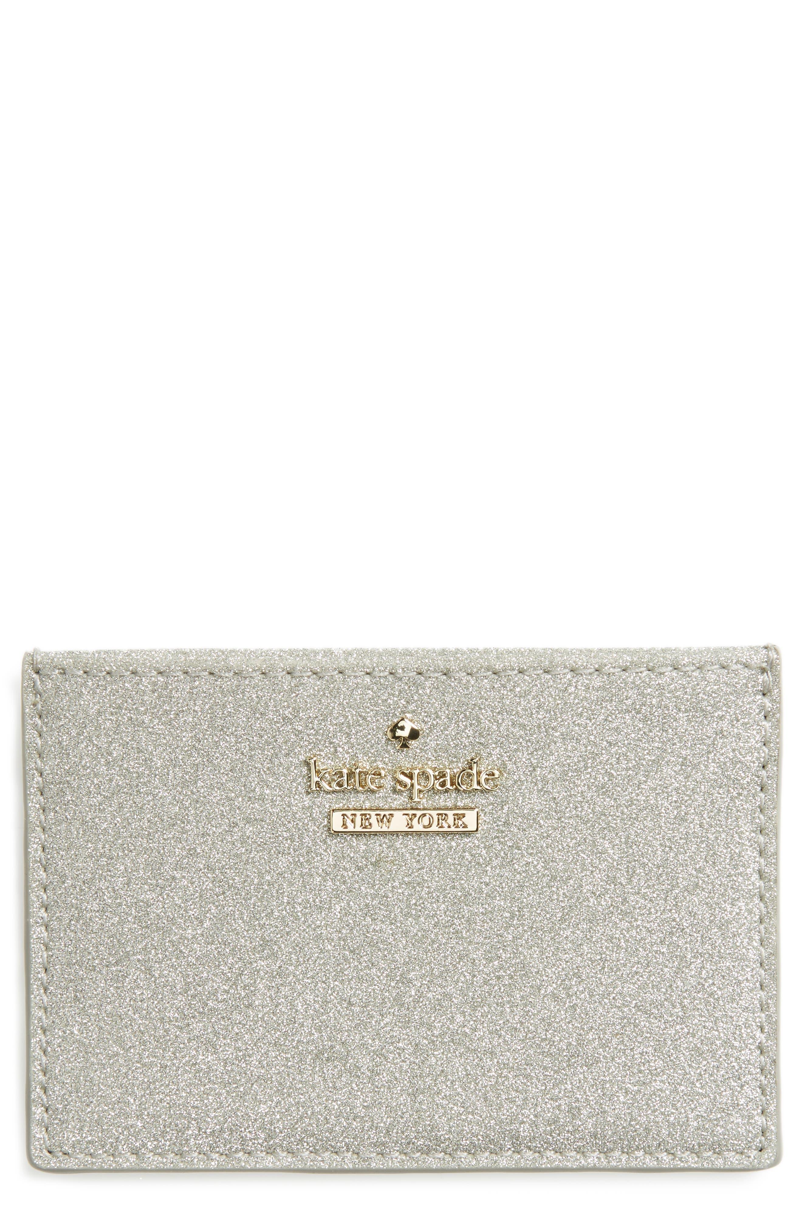 burgess court glitter card holder,                             Main thumbnail 1, color,