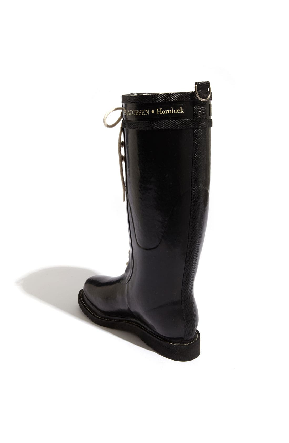 ILSE JACOBSEN,                             Rubber Boot,                             Alternate thumbnail 3, color,                             BLACK