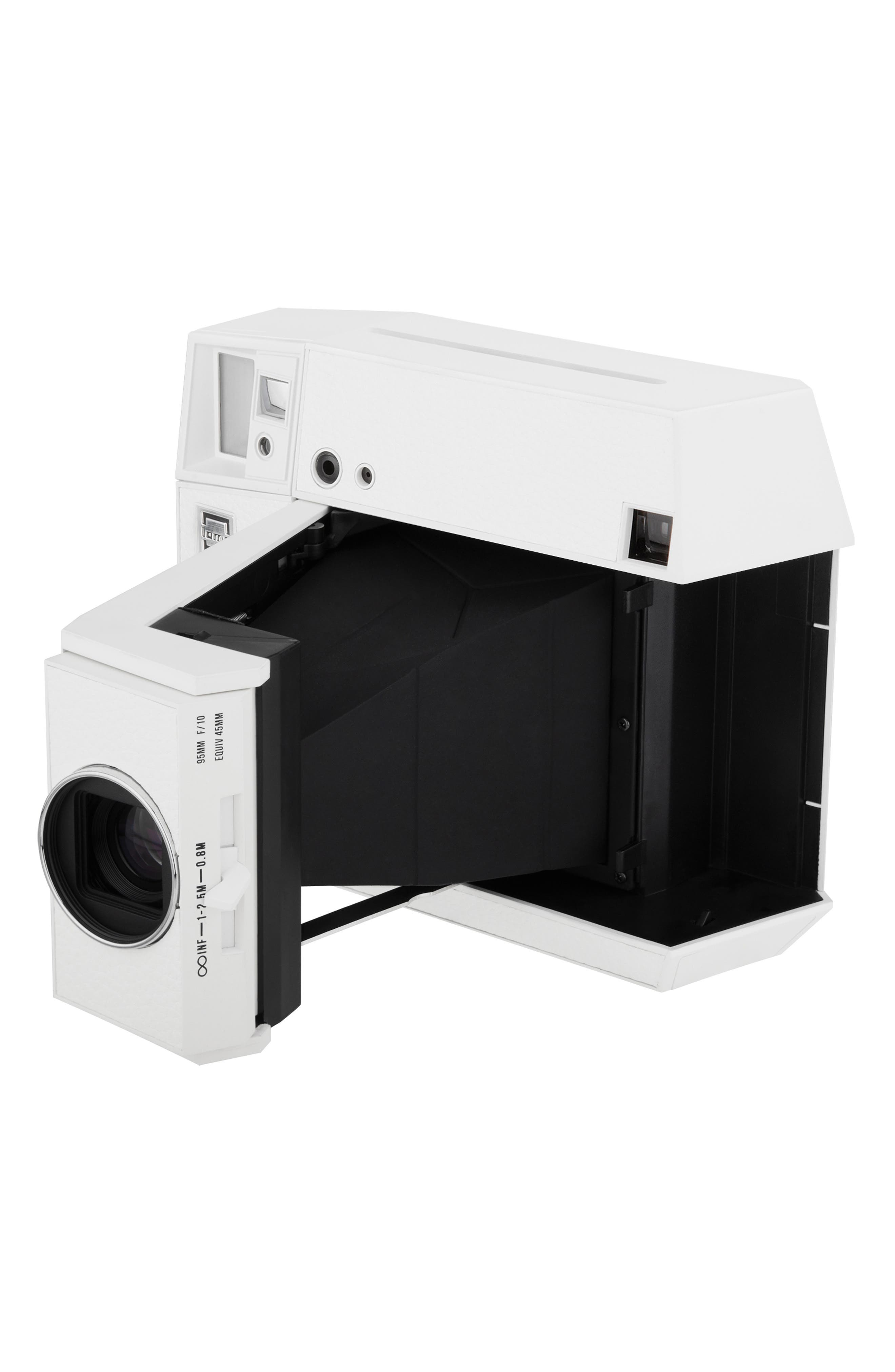 Lomo'Instant Square Glass Black Edition Instant Camera,                             Alternate thumbnail 4, color,                             WHITE