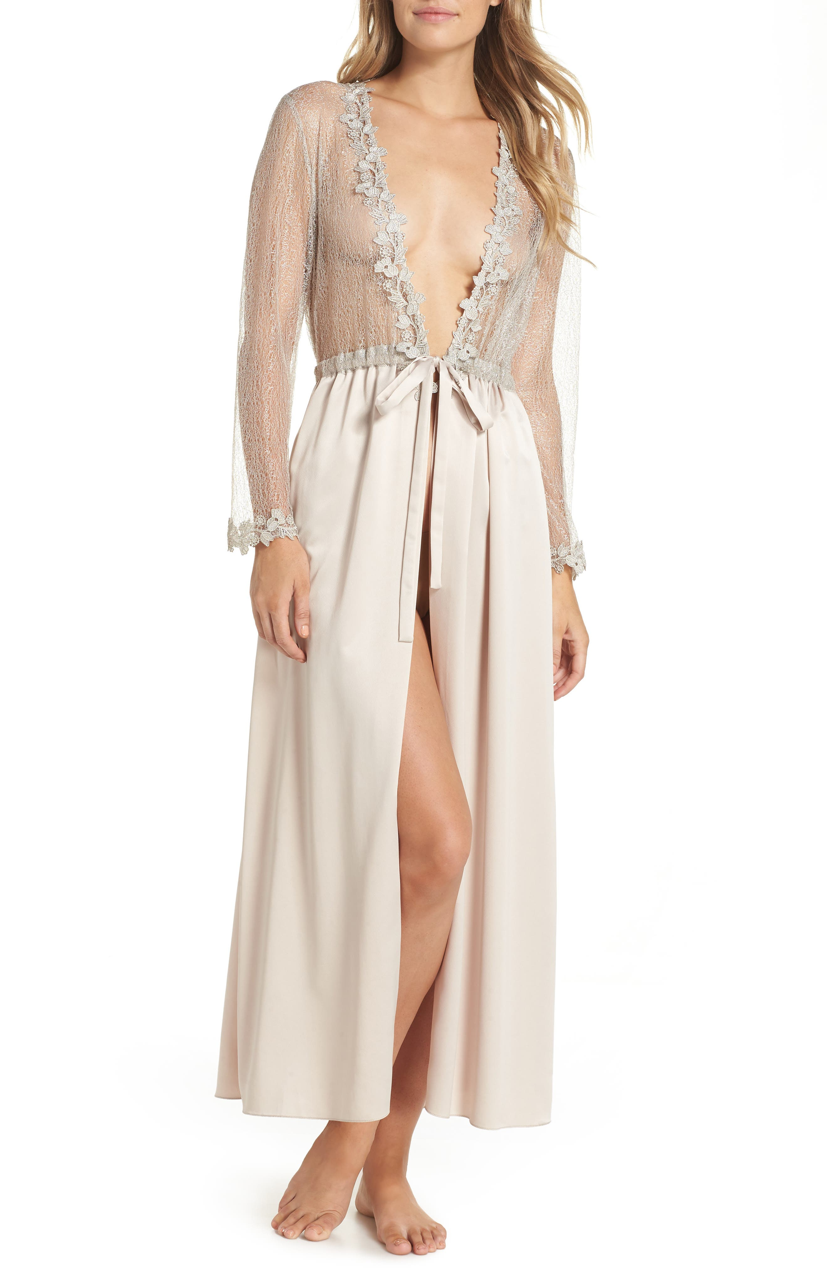 Showstopper Robe,                             Main thumbnail 1, color,                             CHAMPAGNE