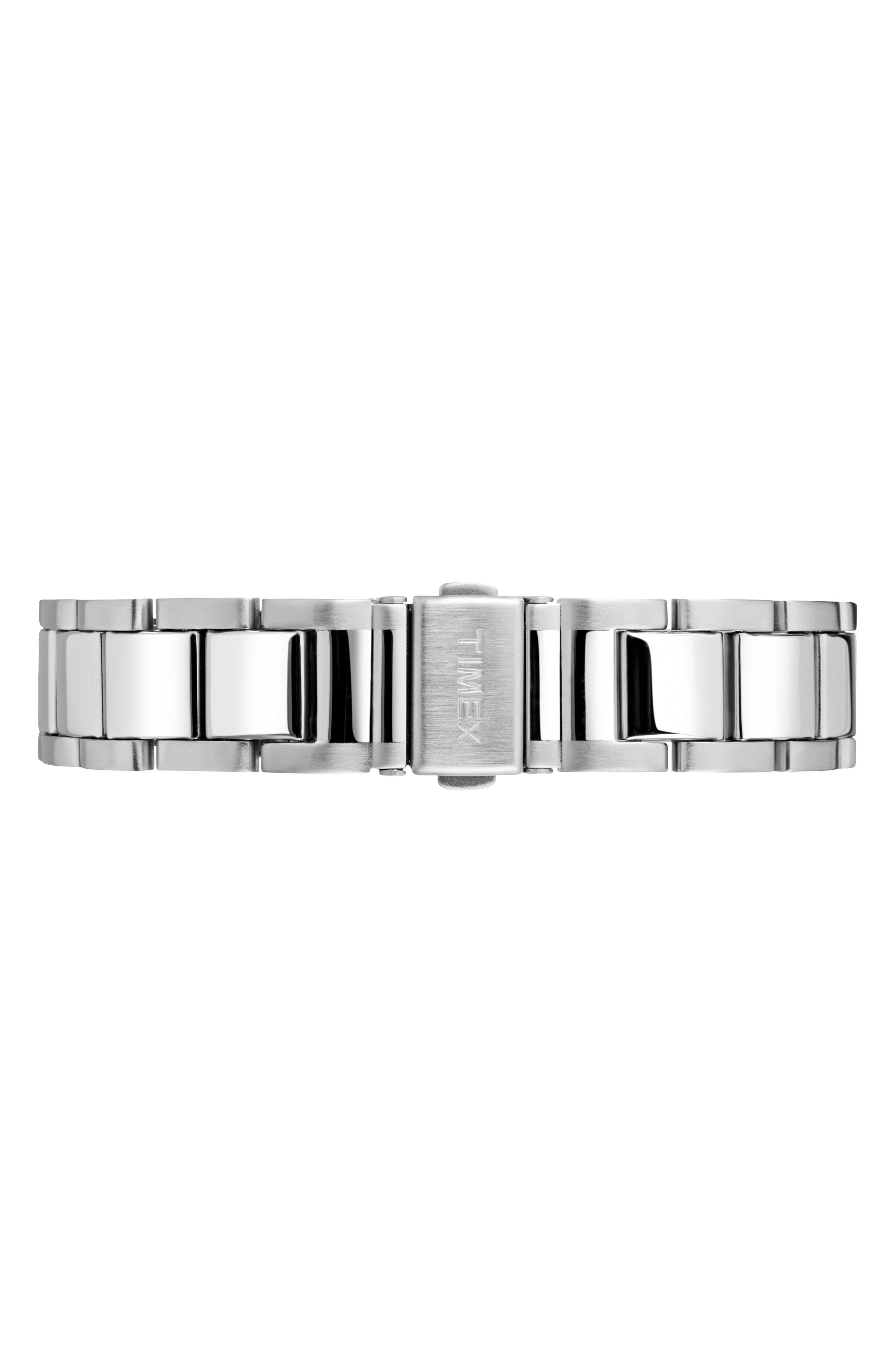 Waterbury Bracelet Watch, 40mm,                             Alternate thumbnail 3, color,                             SILVER/ BLACK/ SILVER