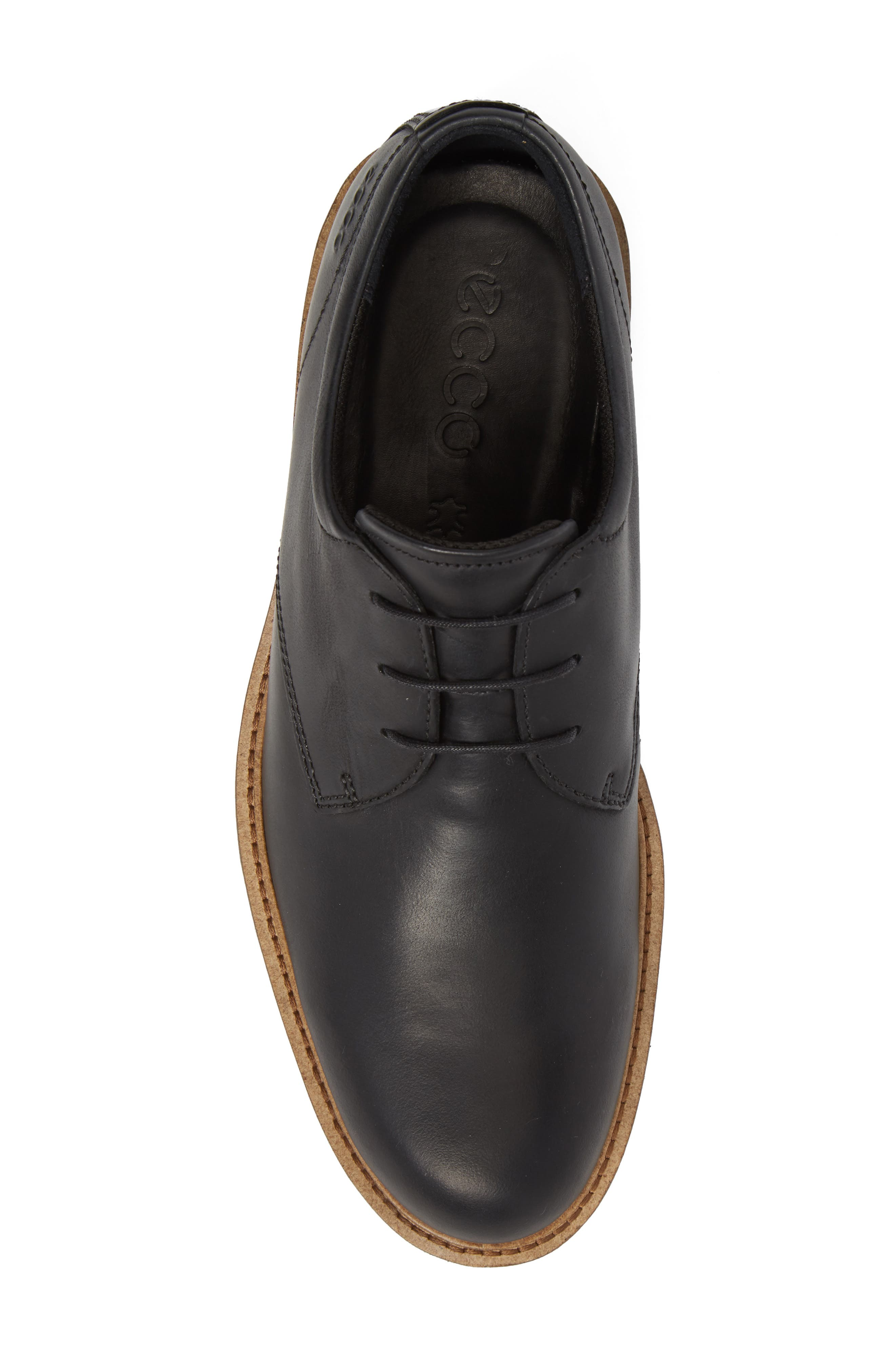 Findlay Plain Toe Derby,                             Alternate thumbnail 5, color,                             BLACK LEATHER