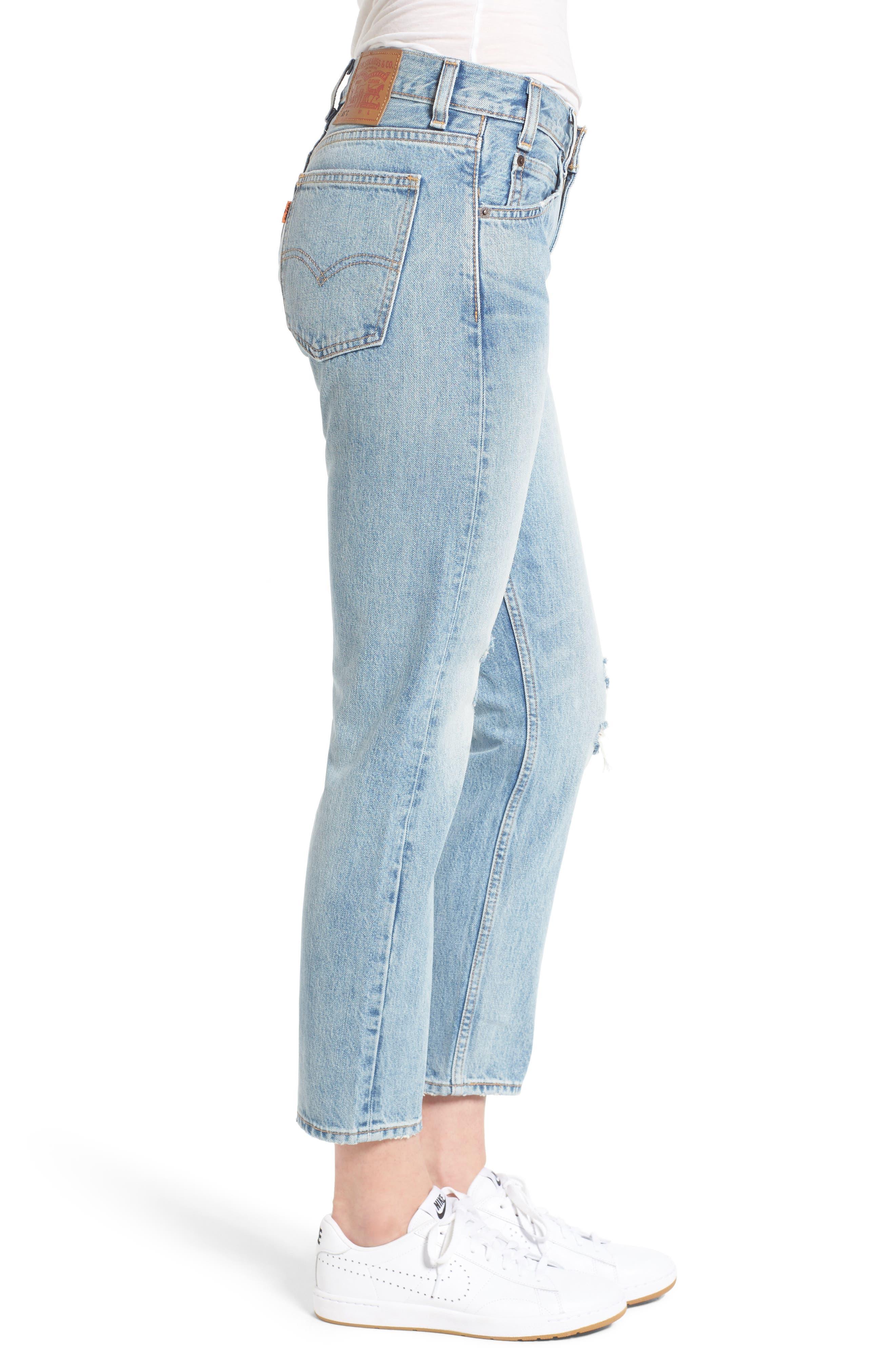 505<sup>™</sup>C Crop Straight Leg Jeans,                             Alternate thumbnail 3, color,                             450