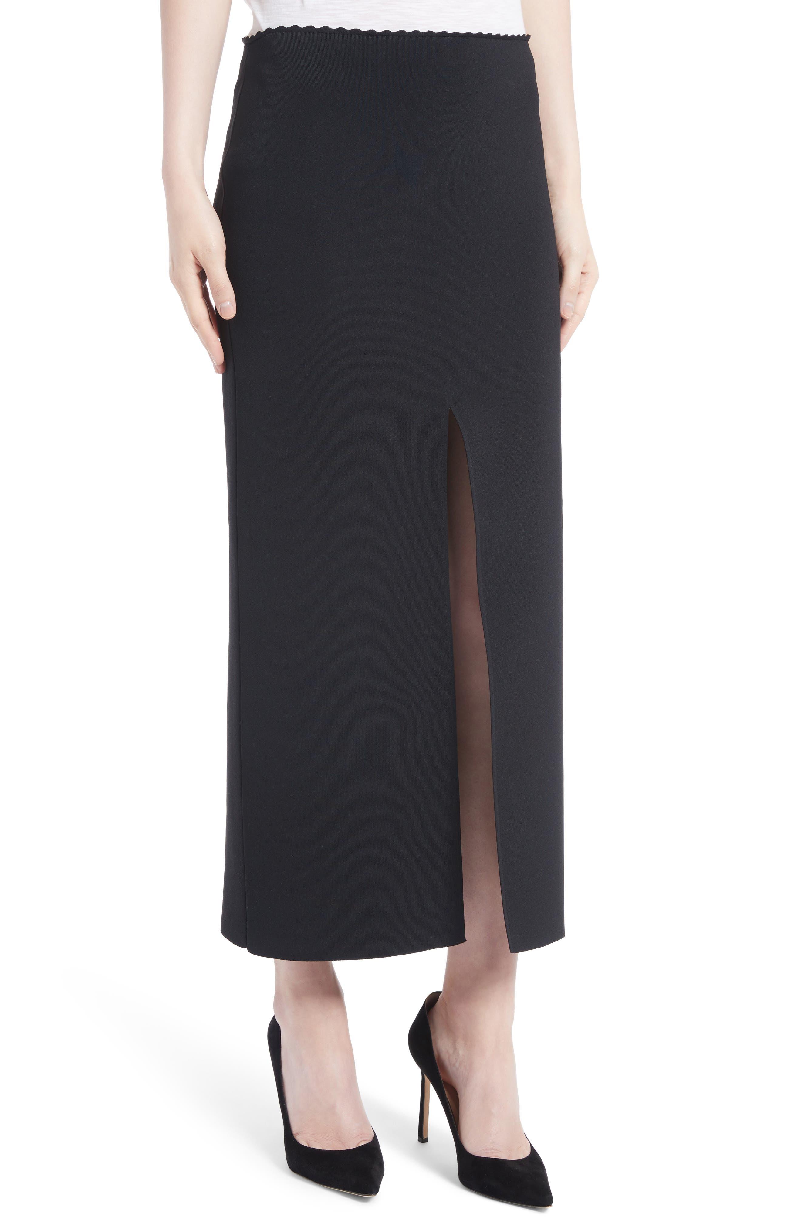 Knit Pencil Skirt,                             Alternate thumbnail 4, color,
