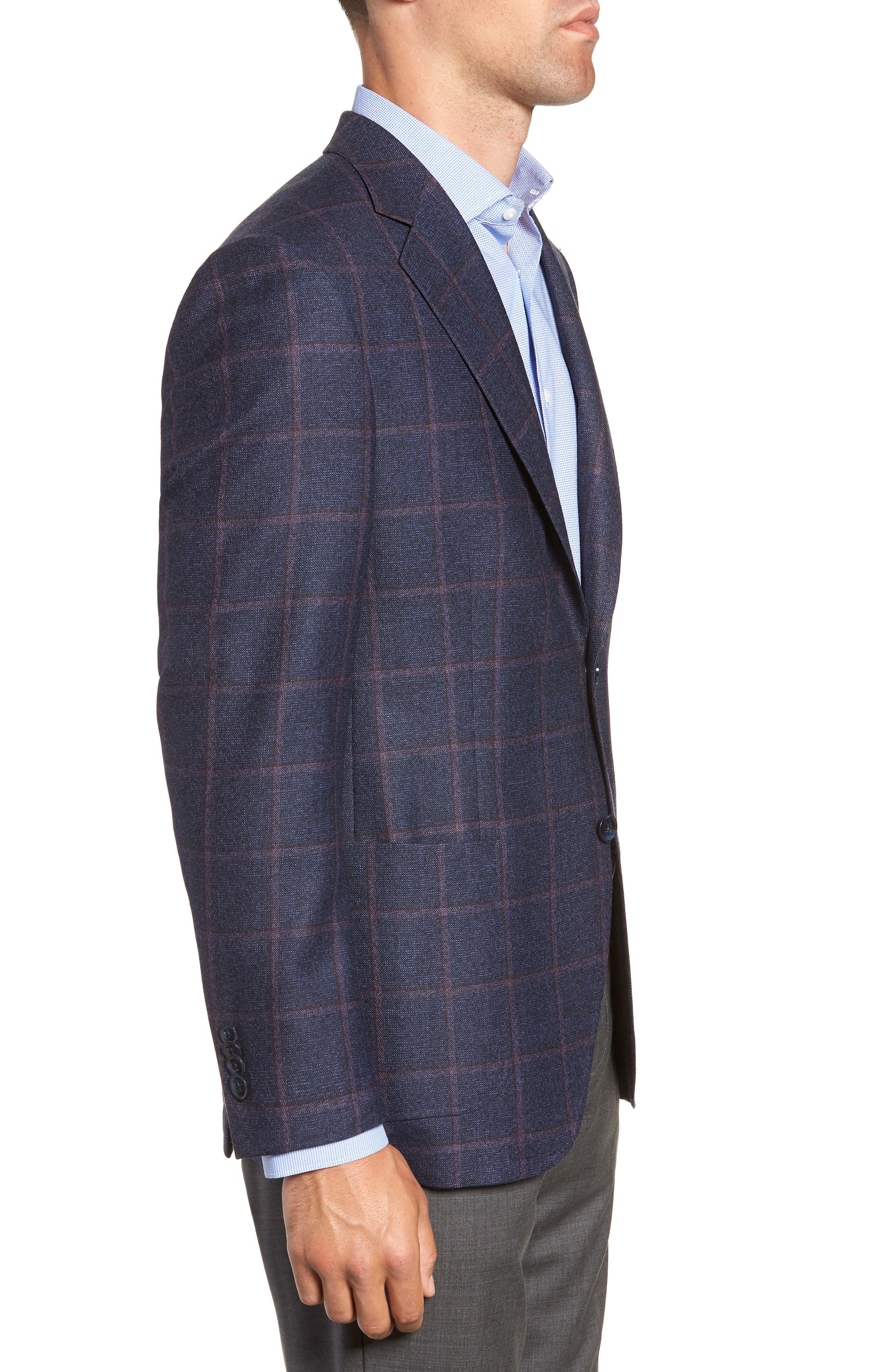 Hyperlight Classic Fit Wool Sport Coat,                             Alternate thumbnail 3, color,                             NAVY
