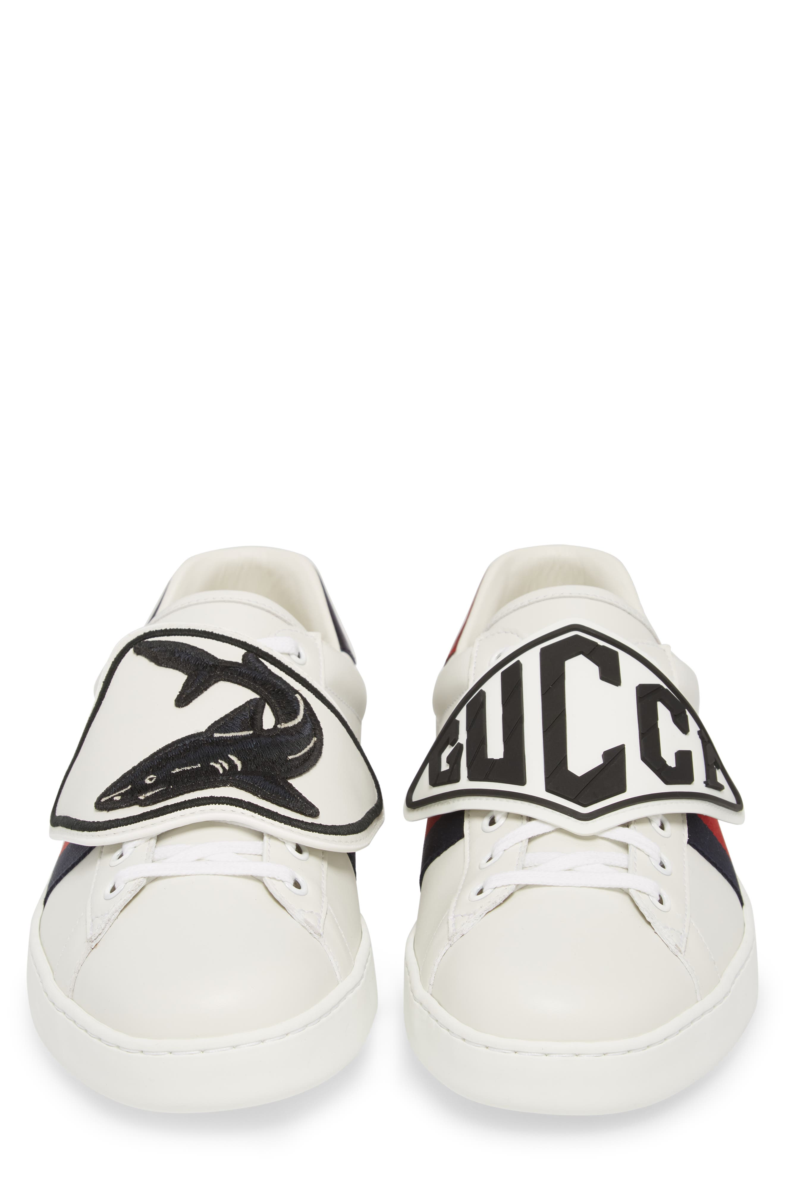 New Ace Patch Sneaker,                             Alternate thumbnail 5, color,                             BIANCO/ WHITE