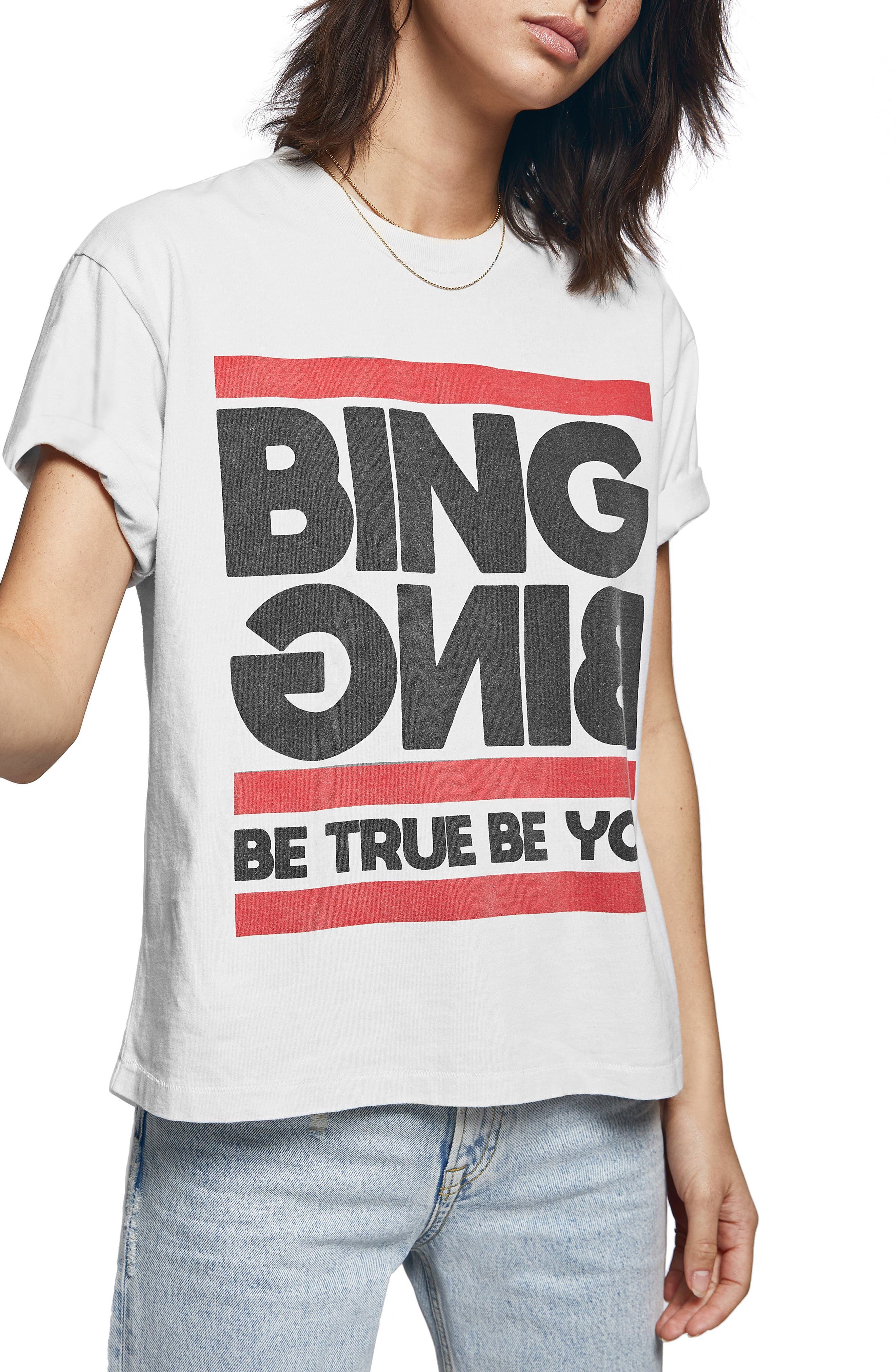 ANINE BING True You Tee, Main, color, WHITE