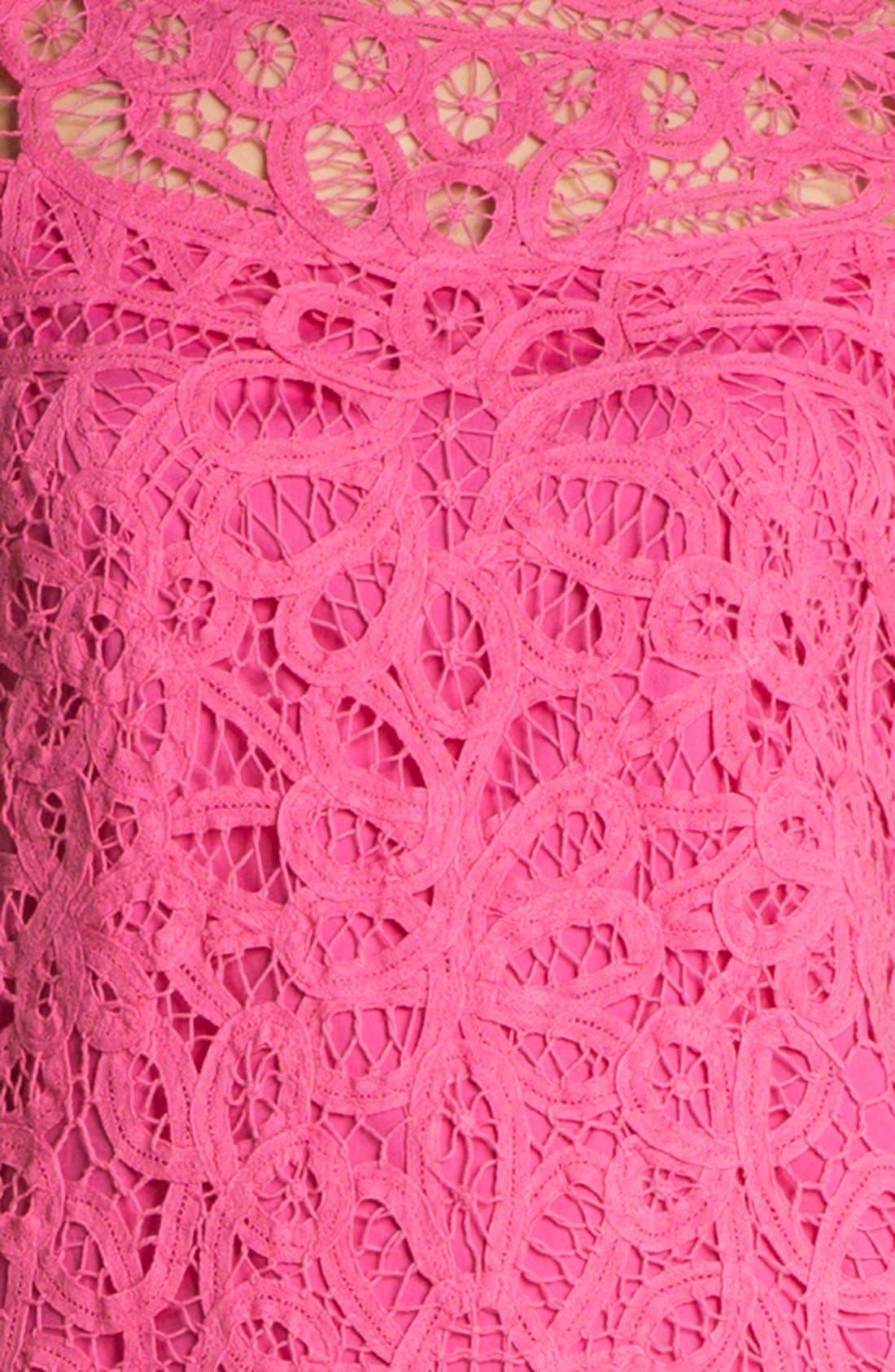 'Marie Kate' Lace Cotton Shift Dress,                             Alternate thumbnail 3, color,                             650