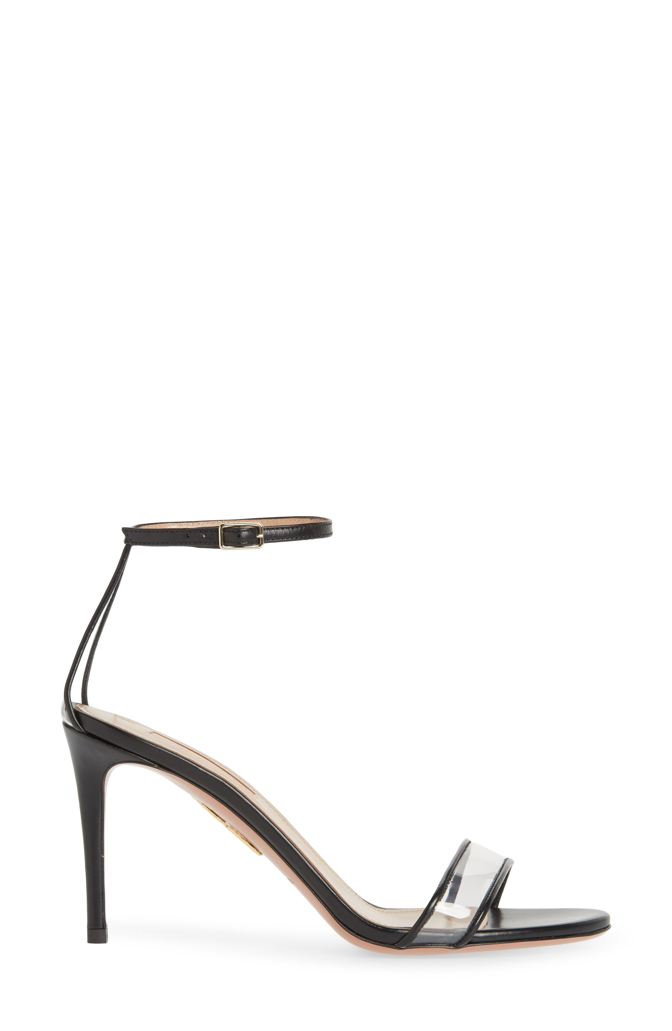 Minimalist Clear Sandal,                             Alternate thumbnail 3, color,                             BLACK