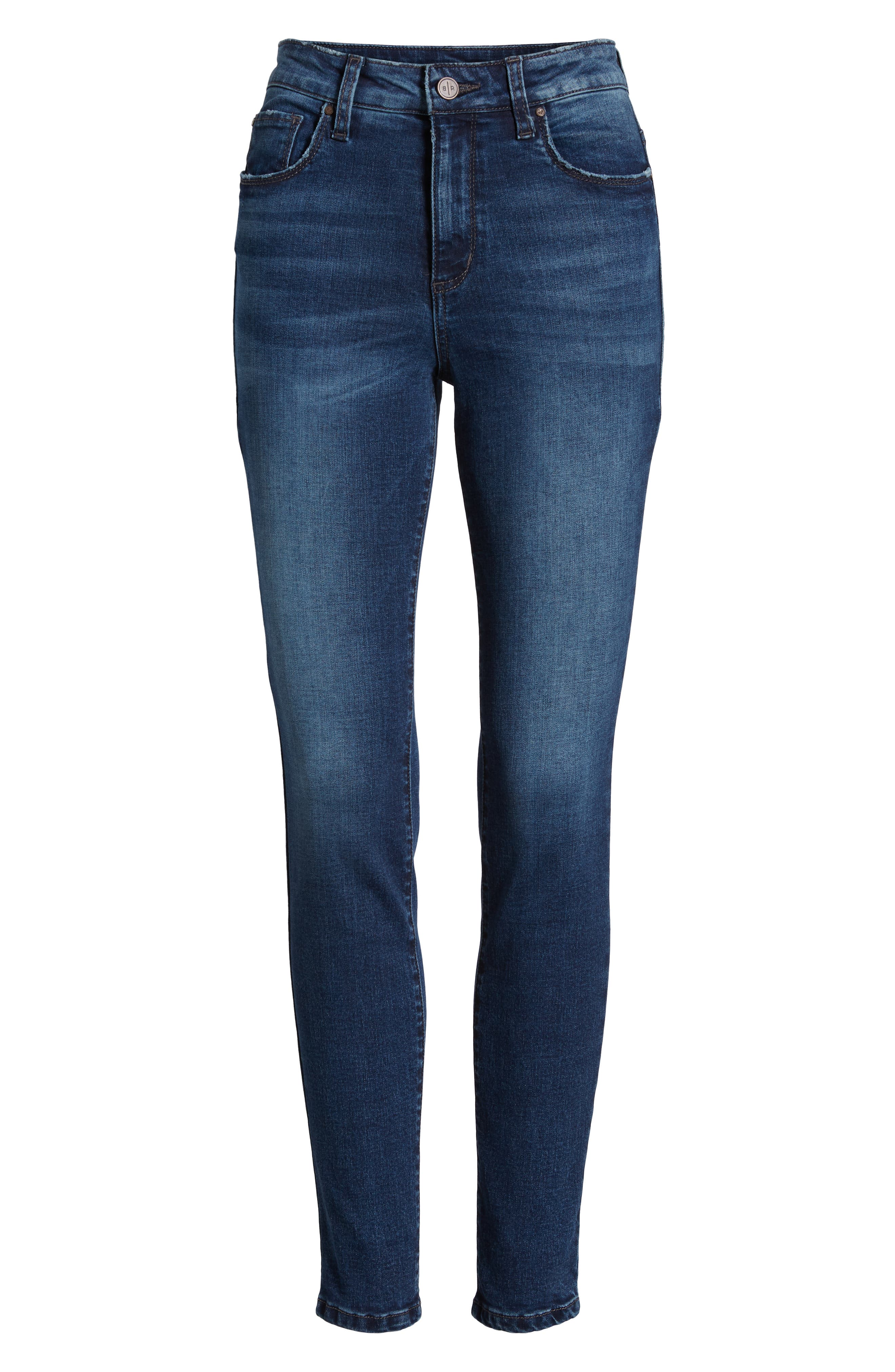 BP.,                             High Rise Skinny Ankle Jeans,                             Alternate thumbnail 7, color,                             MEDIUM WASH