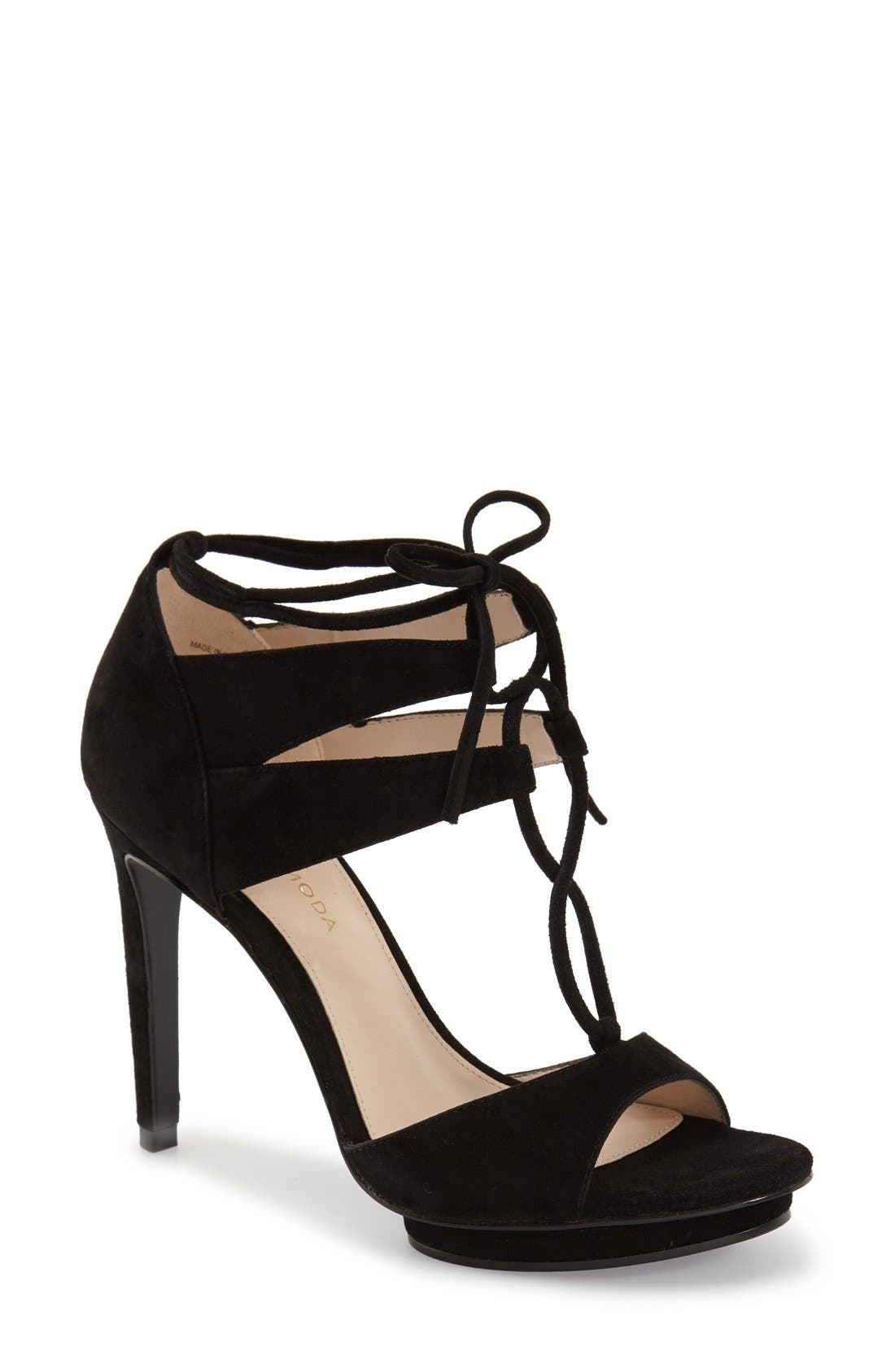 'Talbot' Lace-Up Sandal,                         Main,                         color, 001