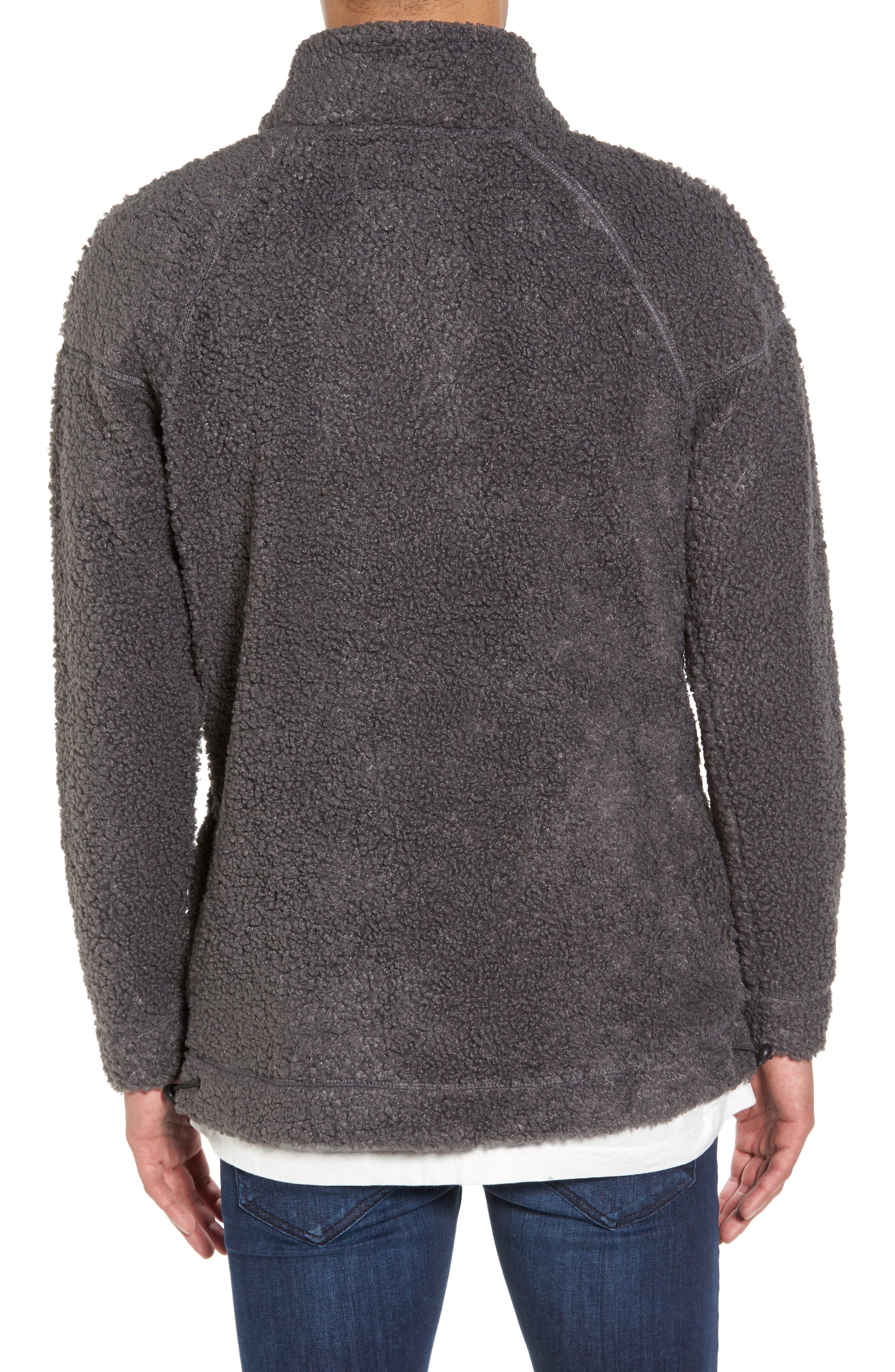 Warlock Faux Shearling Quarter Zip Sweater,                             Alternate thumbnail 2, color,