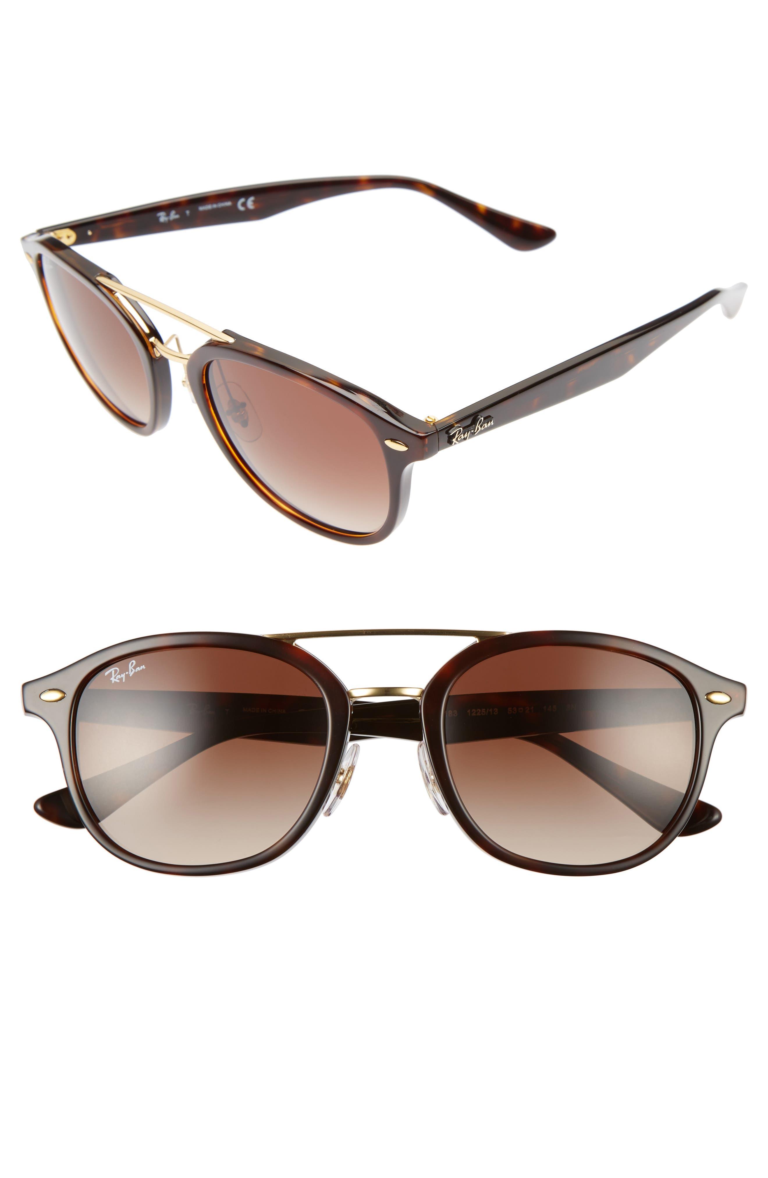53mm Aviator Sunglasses,                             Main thumbnail 1, color,                             905