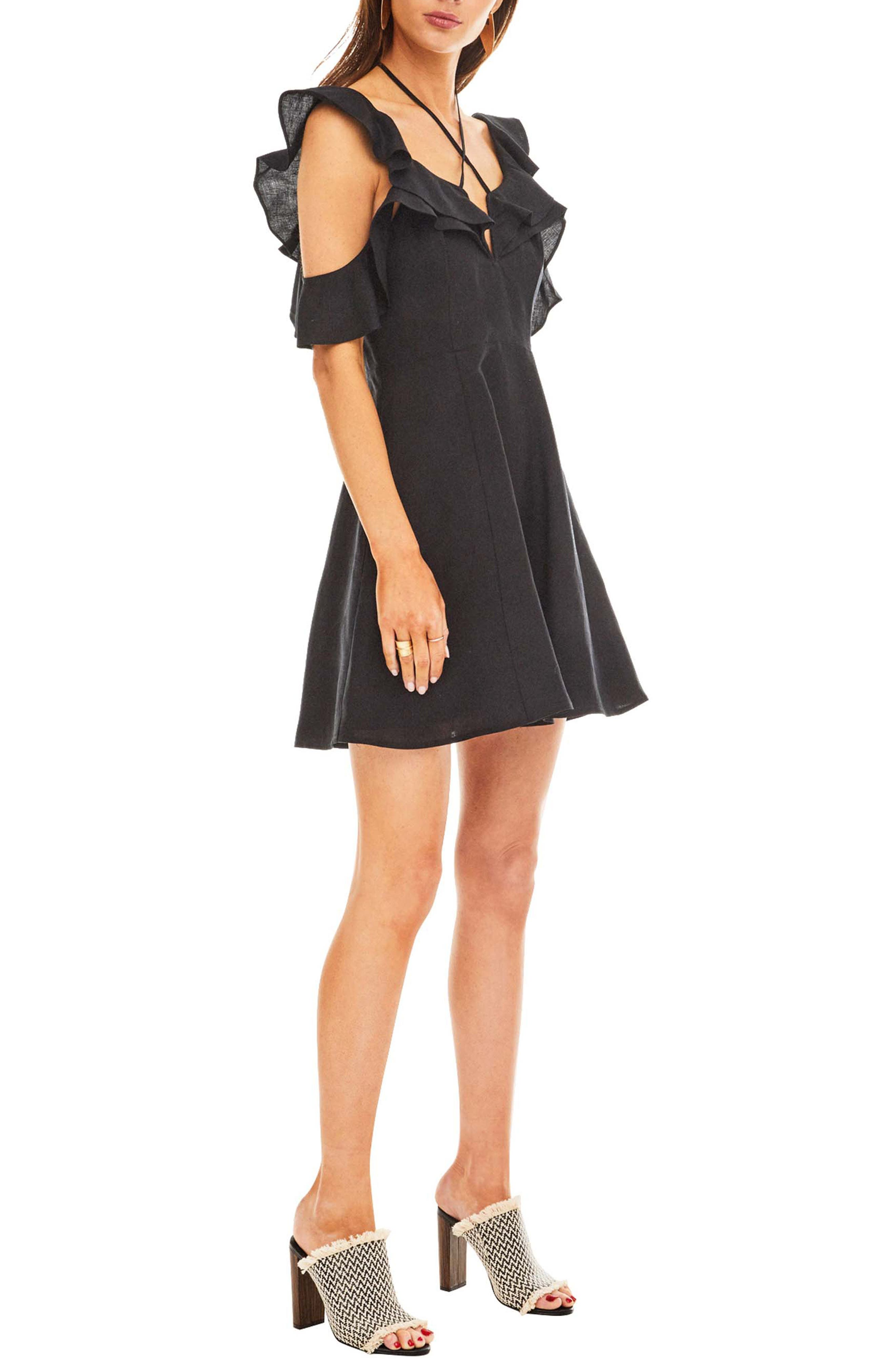 Emi Dress,                             Alternate thumbnail 3, color,                             BLACK