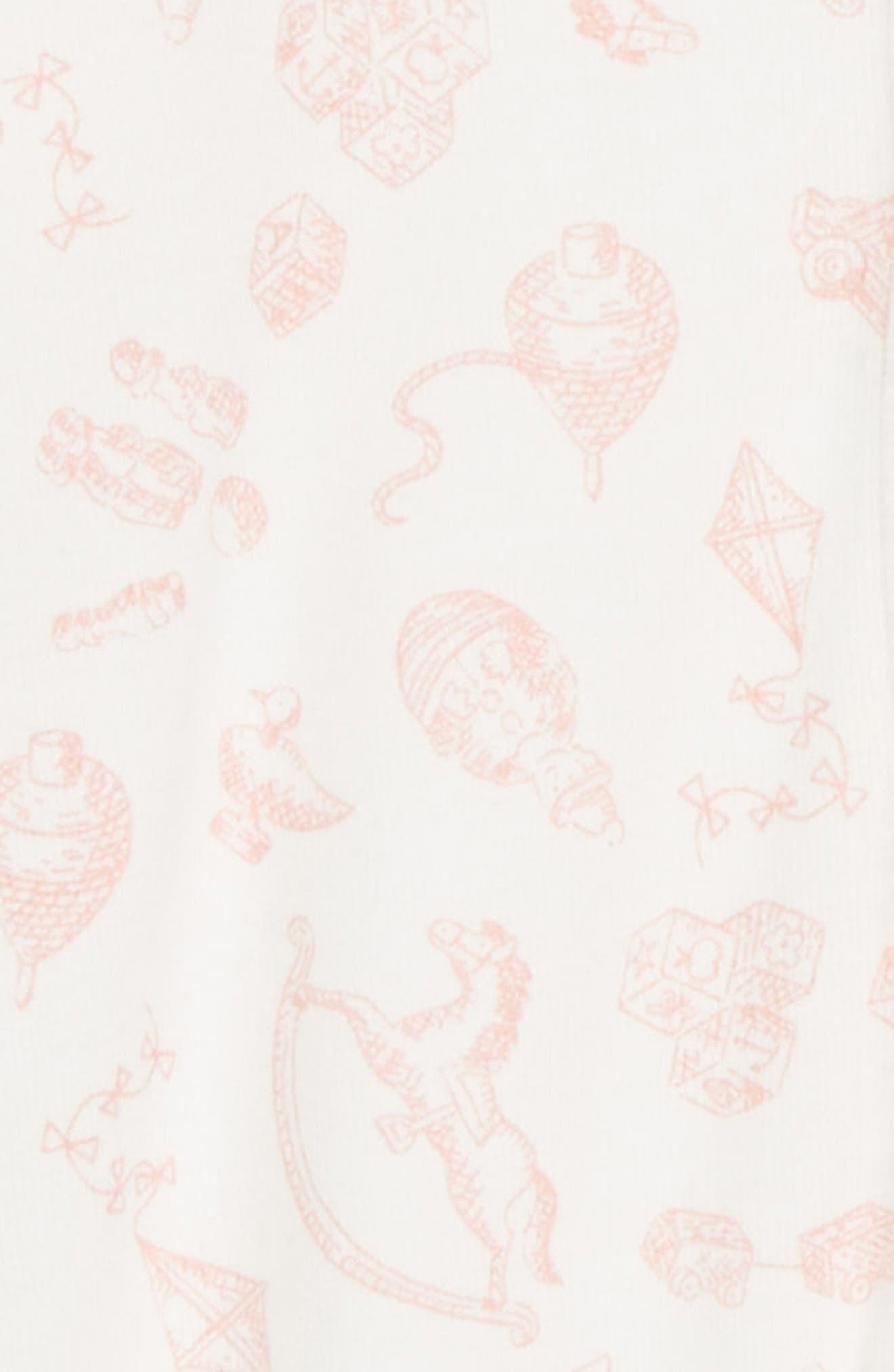 Organic Cotton One-Piece Pajamas,                             Alternate thumbnail 2, color,                             684