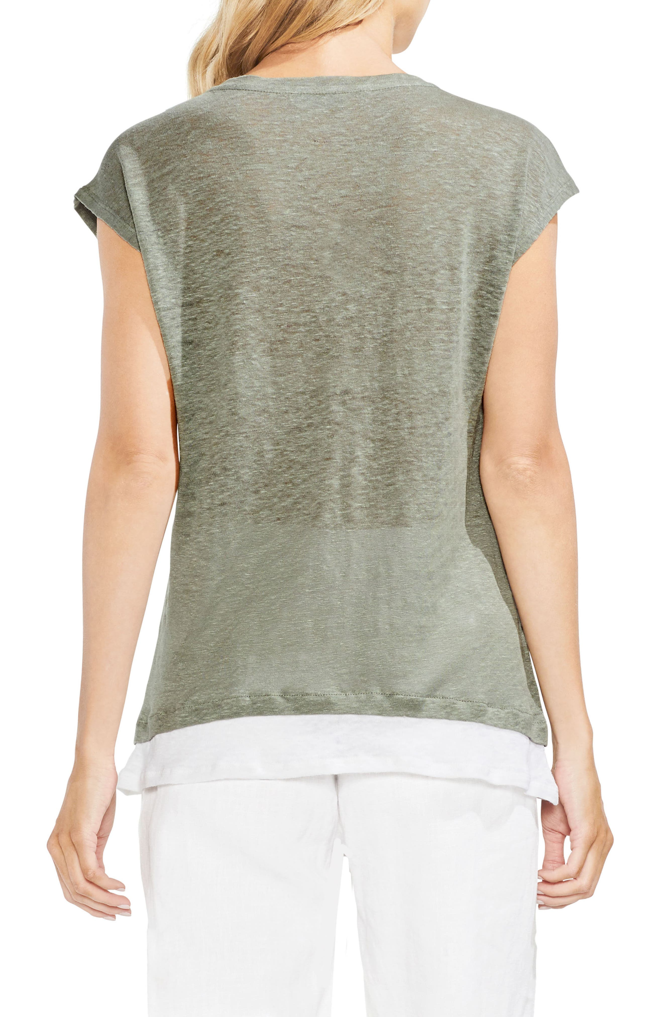 Layered Look Scoop Neck Tee,                             Alternate thumbnail 2, color,                             300
