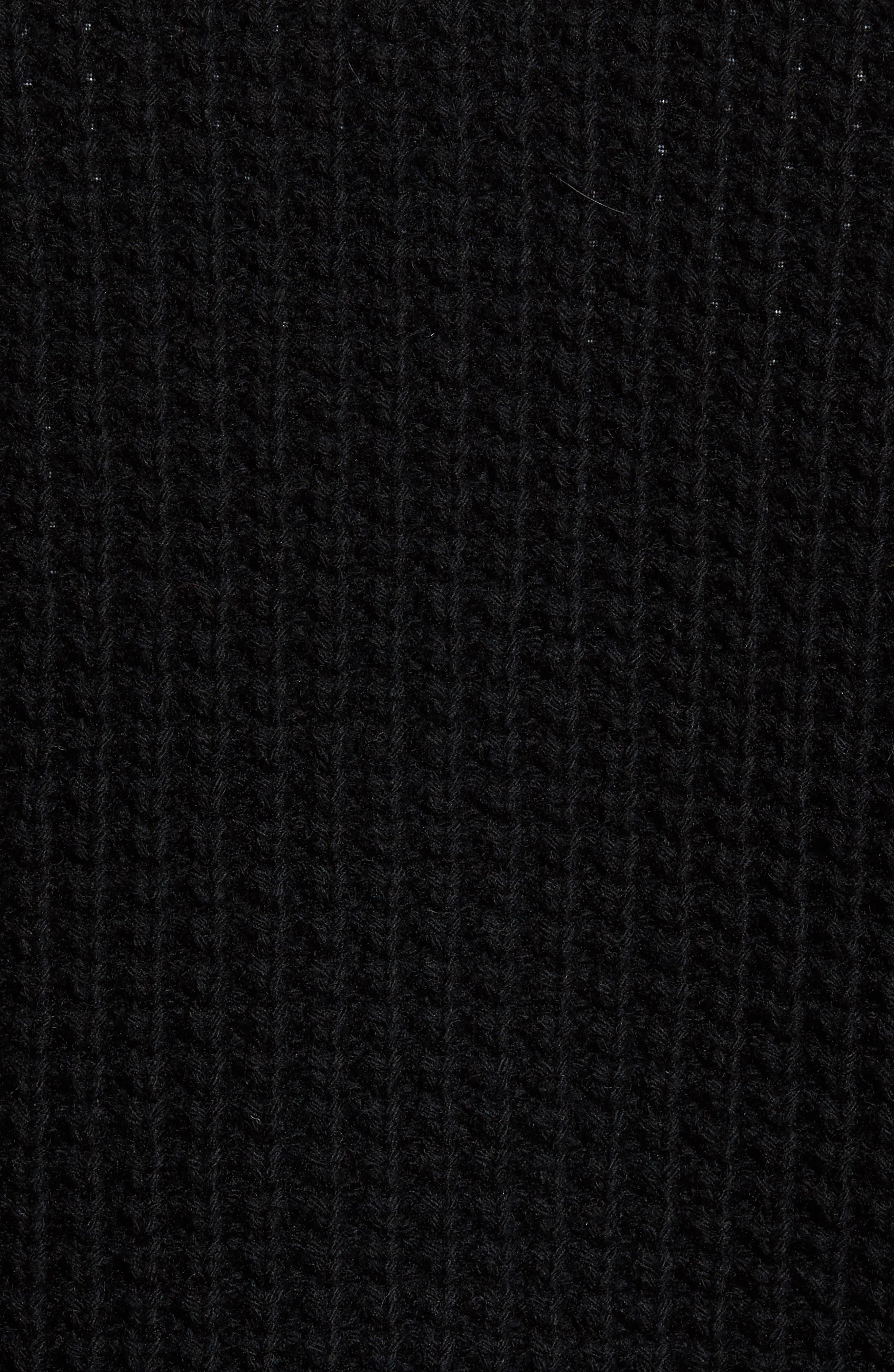 Trim Fit Knit Cardigan Jacket,                             Alternate thumbnail 5, color,                             001