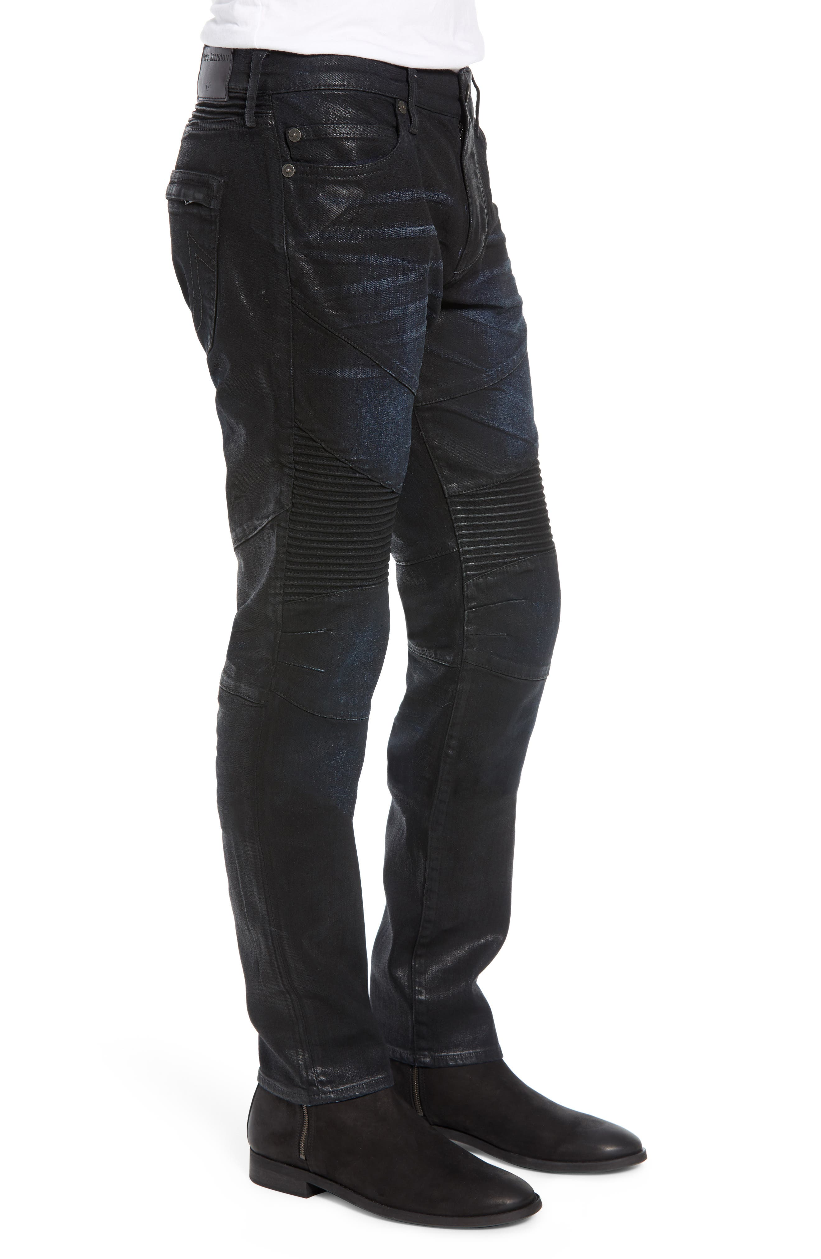 Rocco Skinny Fit Moto Jeans,                             Alternate thumbnail 3, color,                             FLGD BOOST BLUE