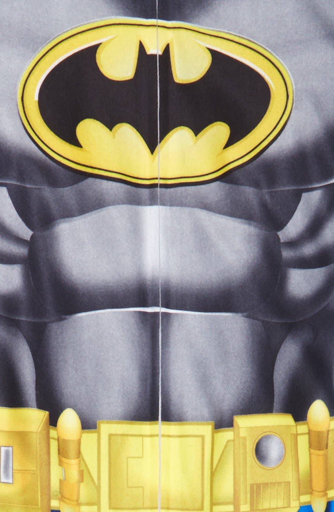 'Batman' Footed Sleeper Pajamas,                             Alternate thumbnail 2, color,                             960