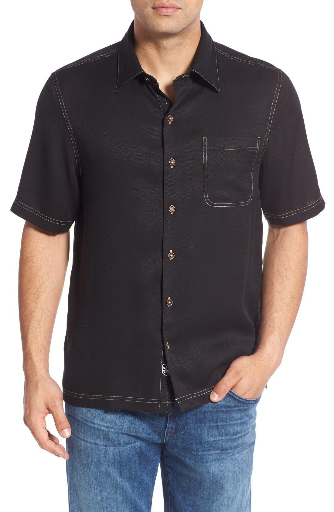 'Honeycomb' Regular Fit Short Sleeve Textured Sport Shirt,                             Main thumbnail 2, color,