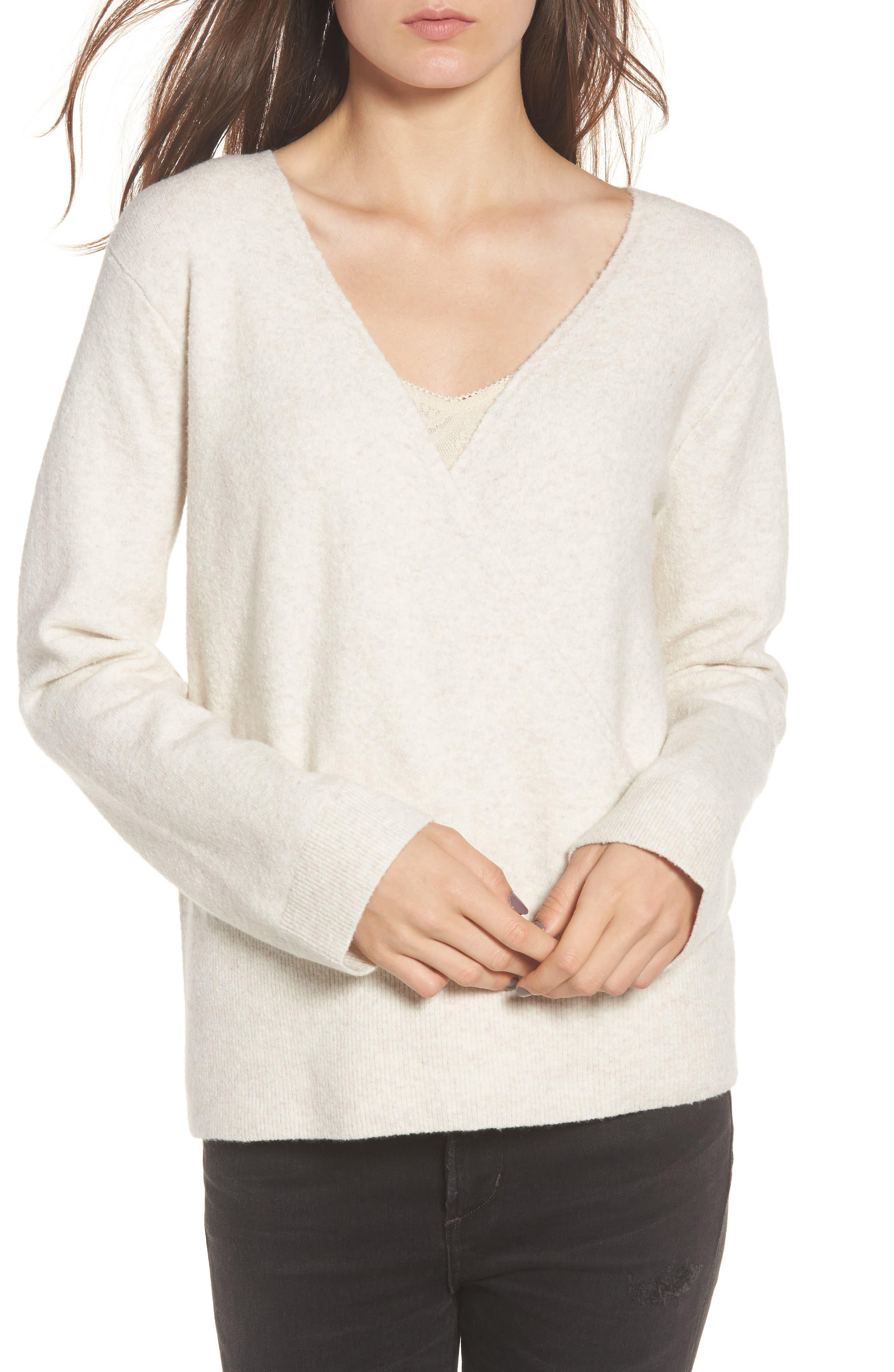 Faux Wrap Sweater,                             Main thumbnail 2, color,