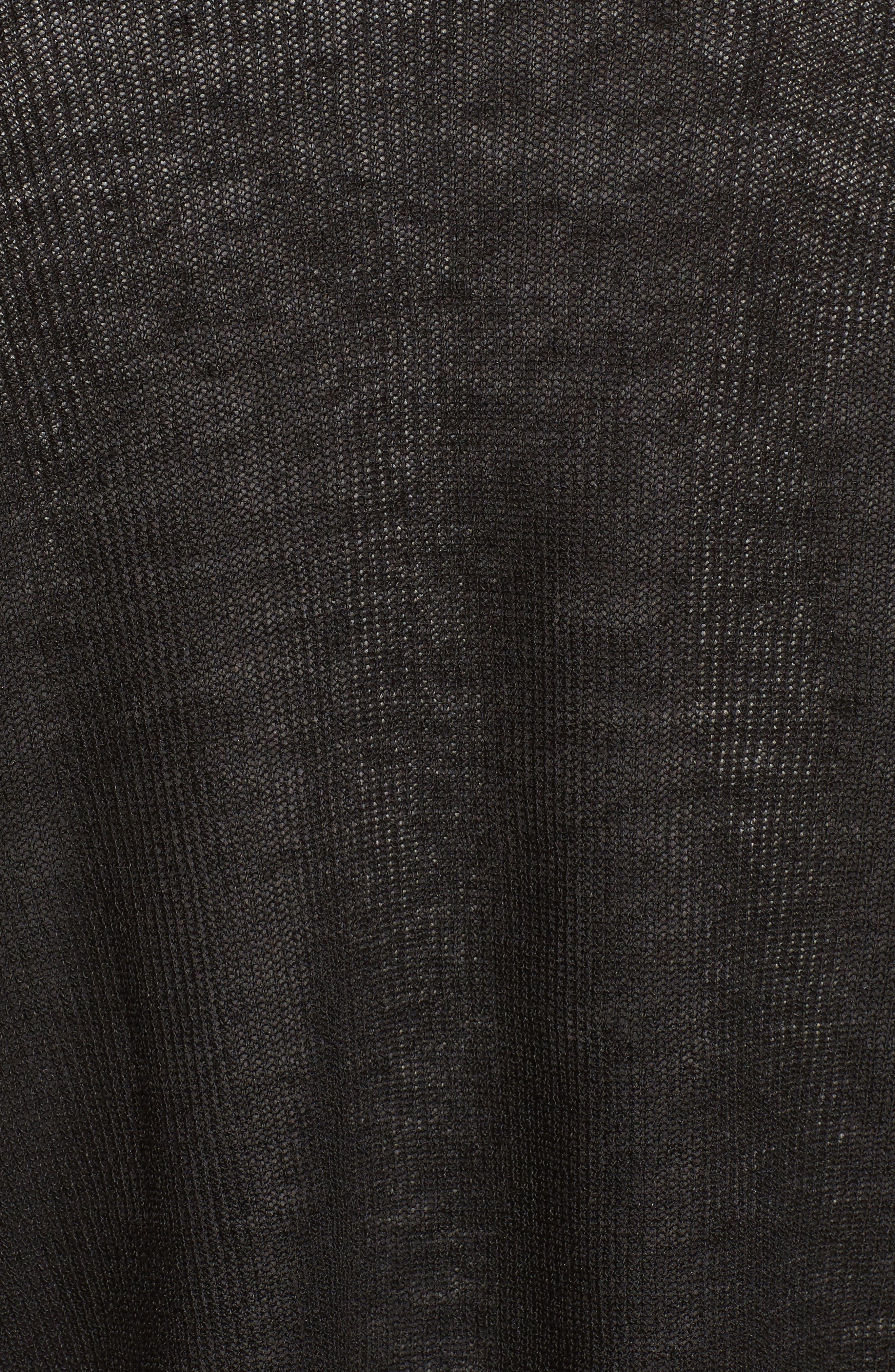 Organic Linen Blend Crop Cardigan,                             Alternate thumbnail 5, color,                             001