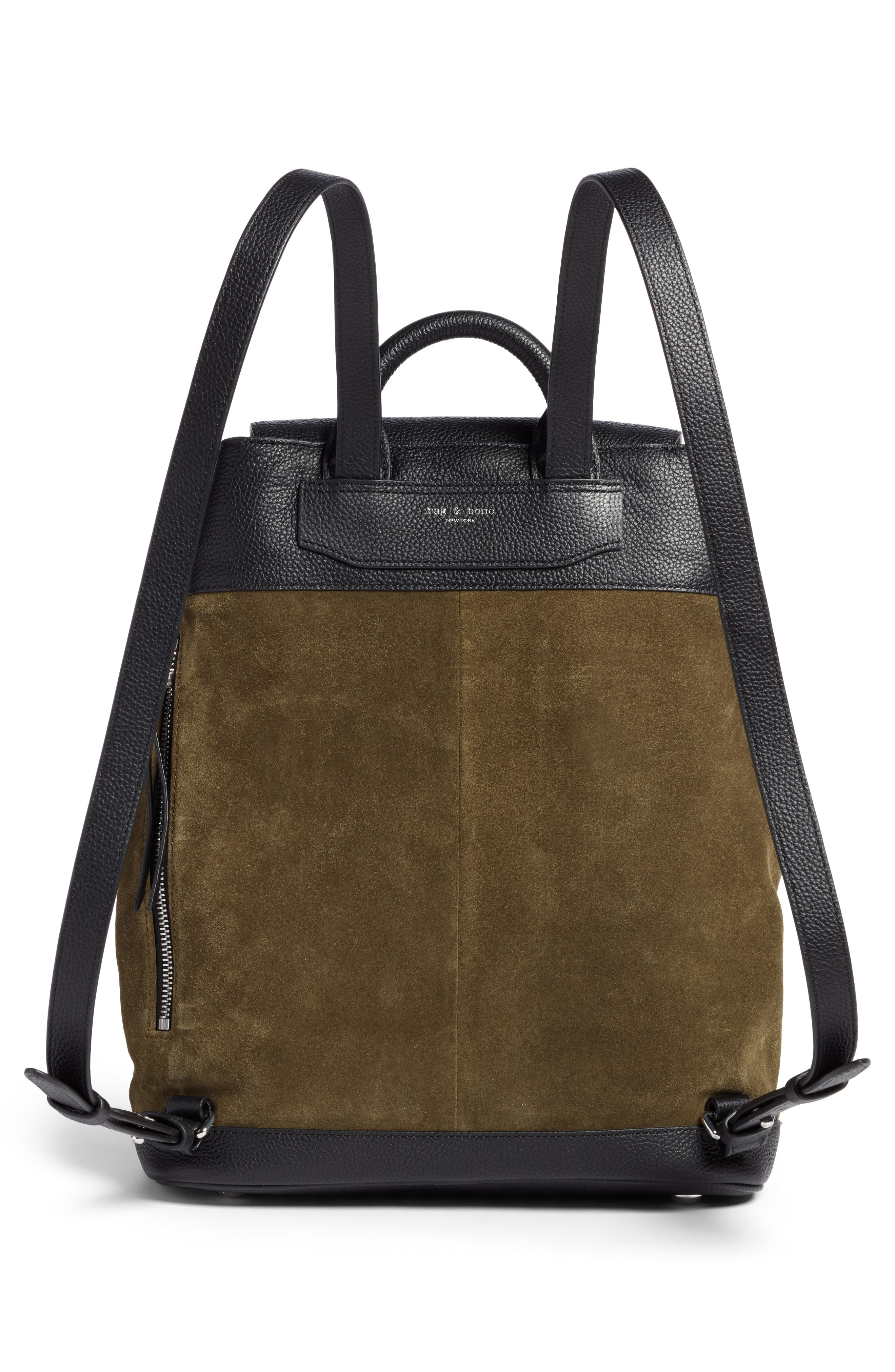 Pilot Suede & Leather Backpack,                             Alternate thumbnail 3, color,                             300