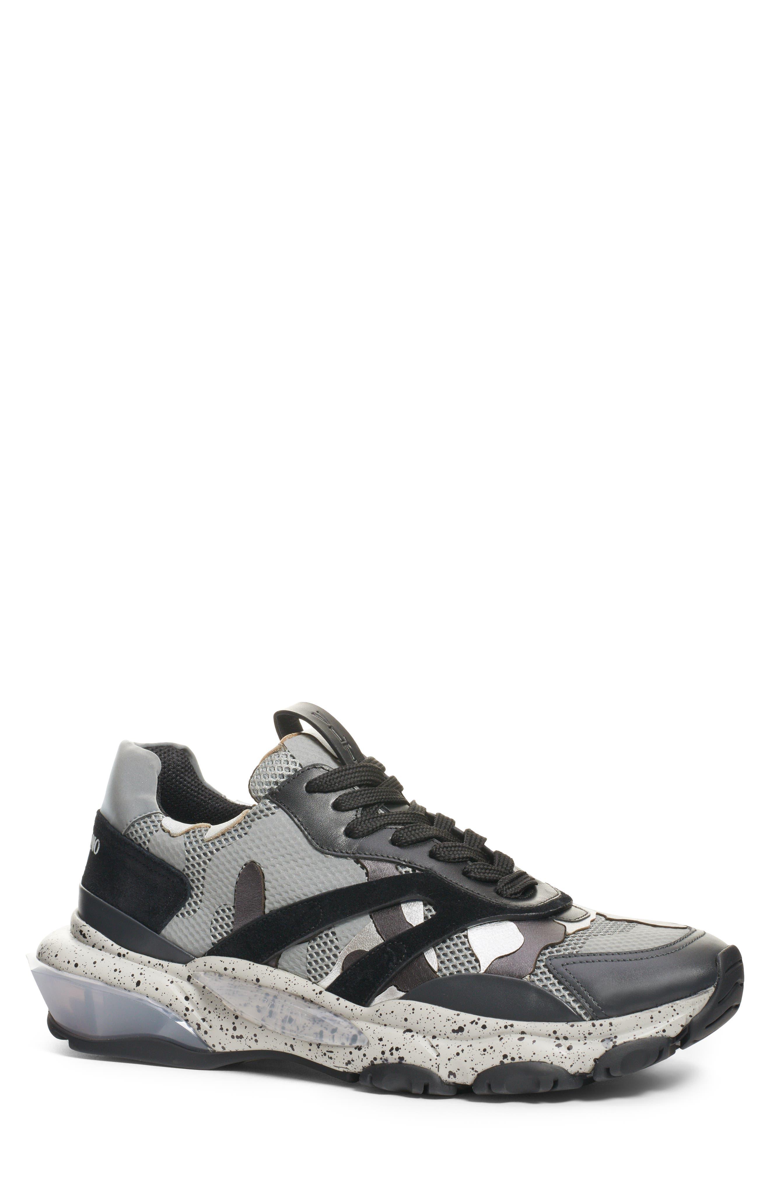 Bounce Sneaker, Main, color, DARK SILVER/ BLACK