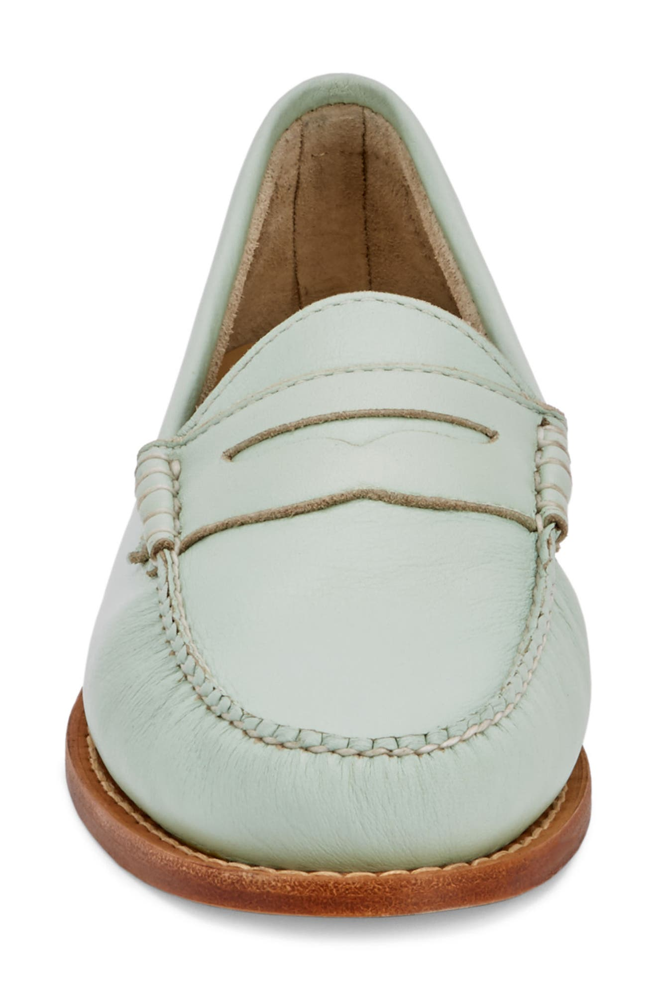 'Whitney' Loafer,                             Alternate thumbnail 4, color,                             MINT GREEN LEATHER