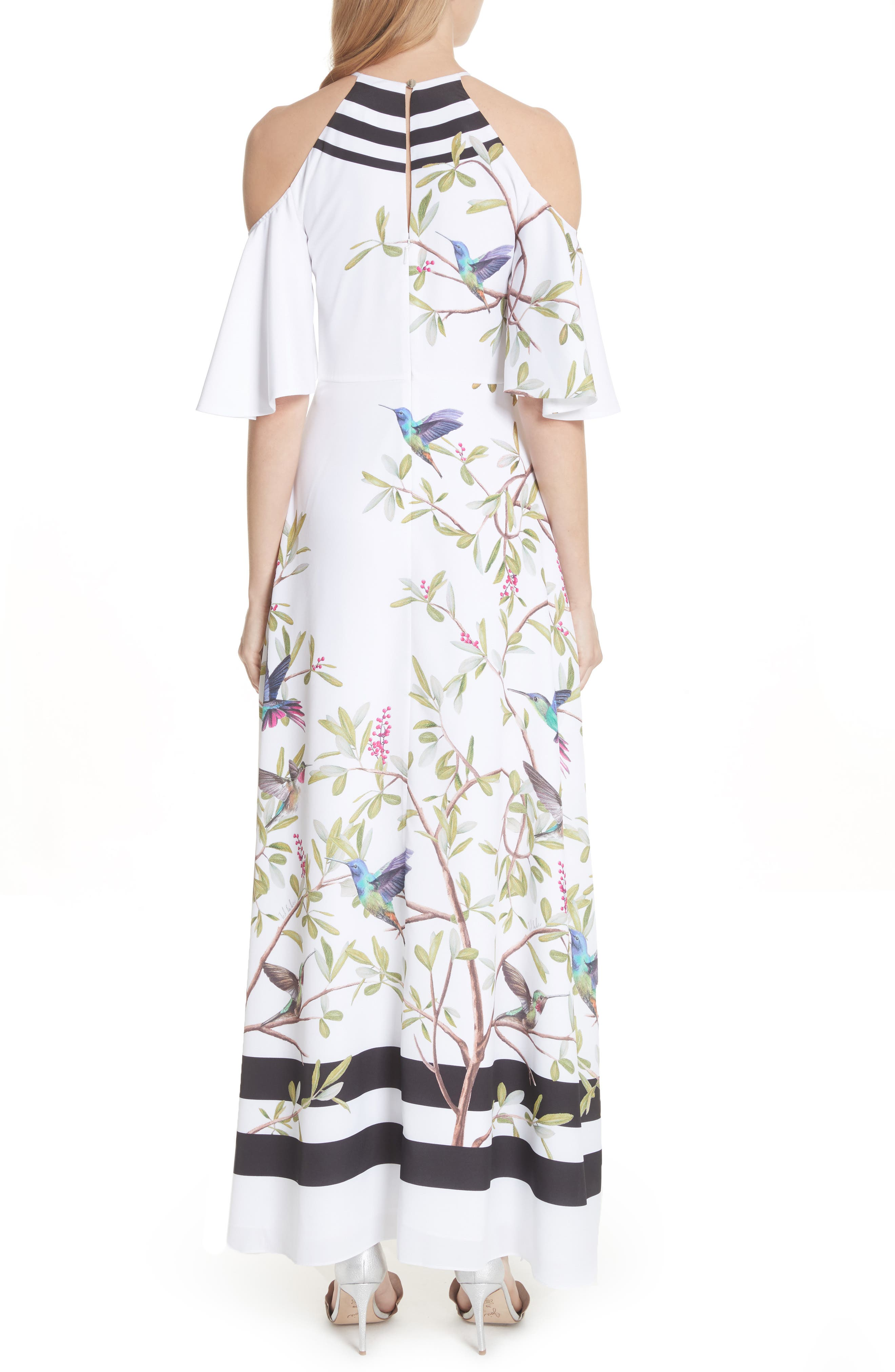 Highgrove Cold Shoulder Maxi Dress,                             Alternate thumbnail 2, color,                             110