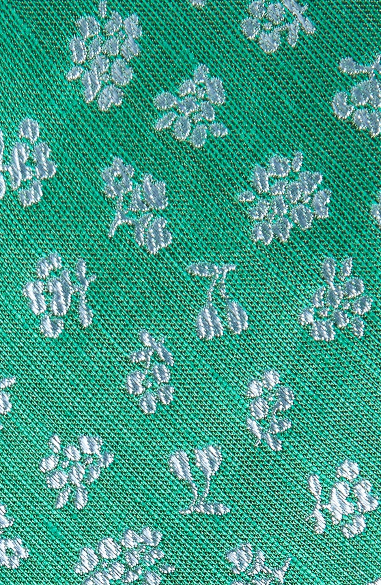 Fruta Floral Silk & Linen Tie,                             Alternate thumbnail 2, color,                             GREEN