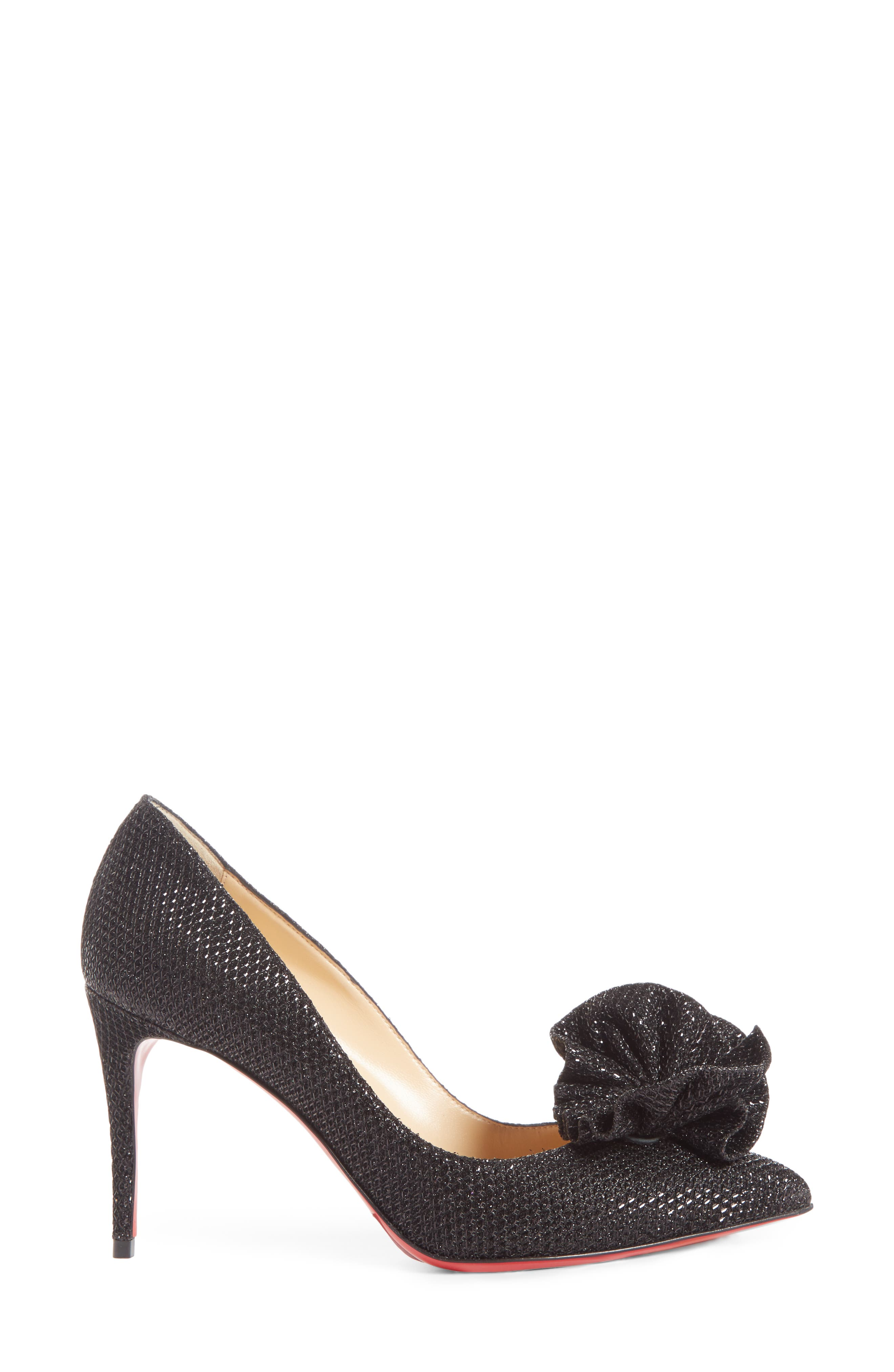 Anemosea Pointy Toe Pump,                             Alternate thumbnail 3, color,                             BLACK