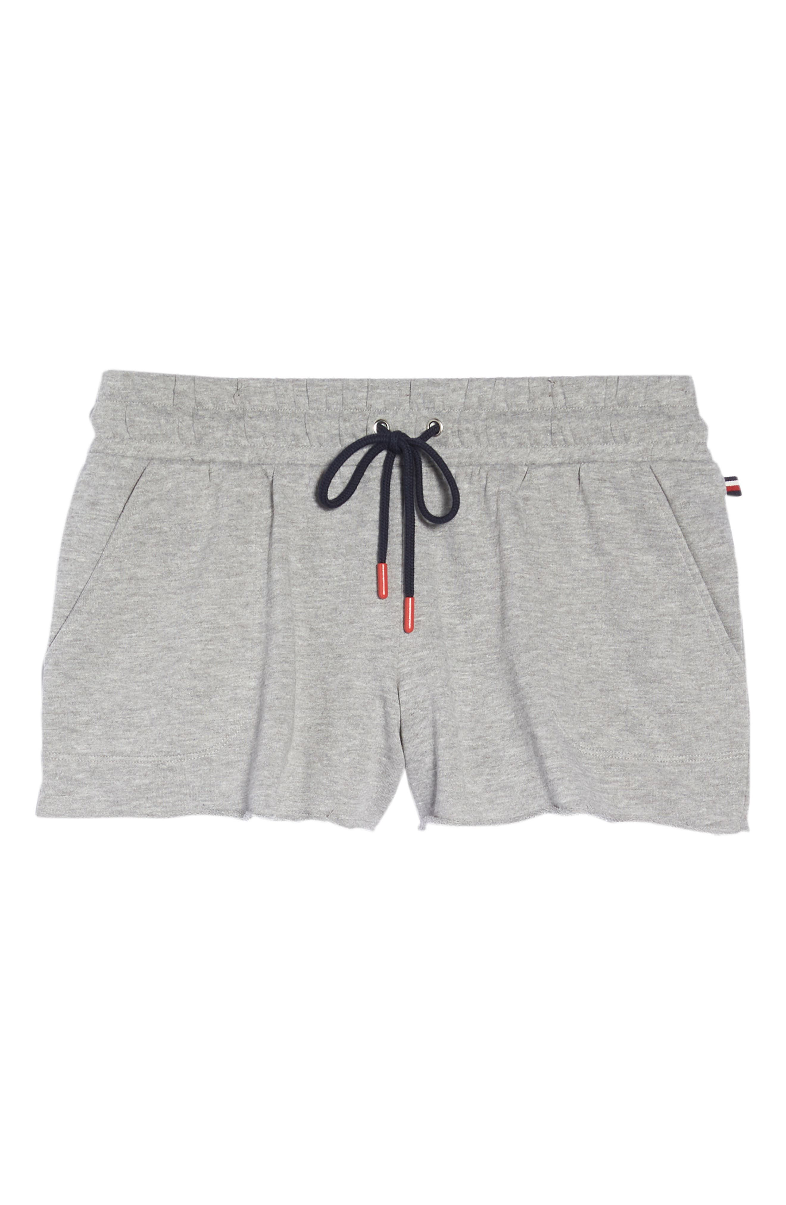 Raw Edge Pajama Shorts,                             Alternate thumbnail 6, color,                             020