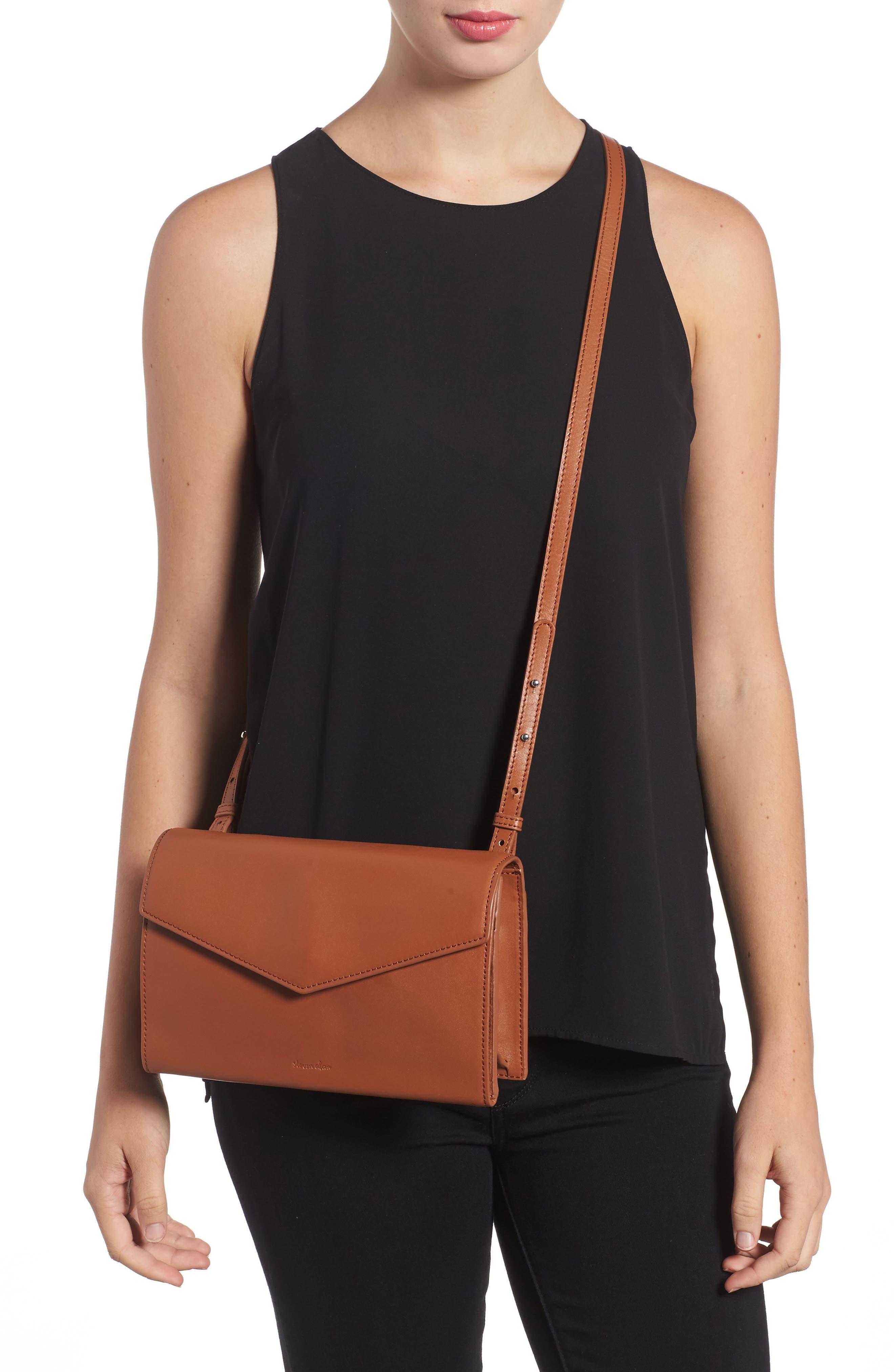 Easton Leather Envelope Crossbody Bag,                             Alternate thumbnail 2, color,                             200