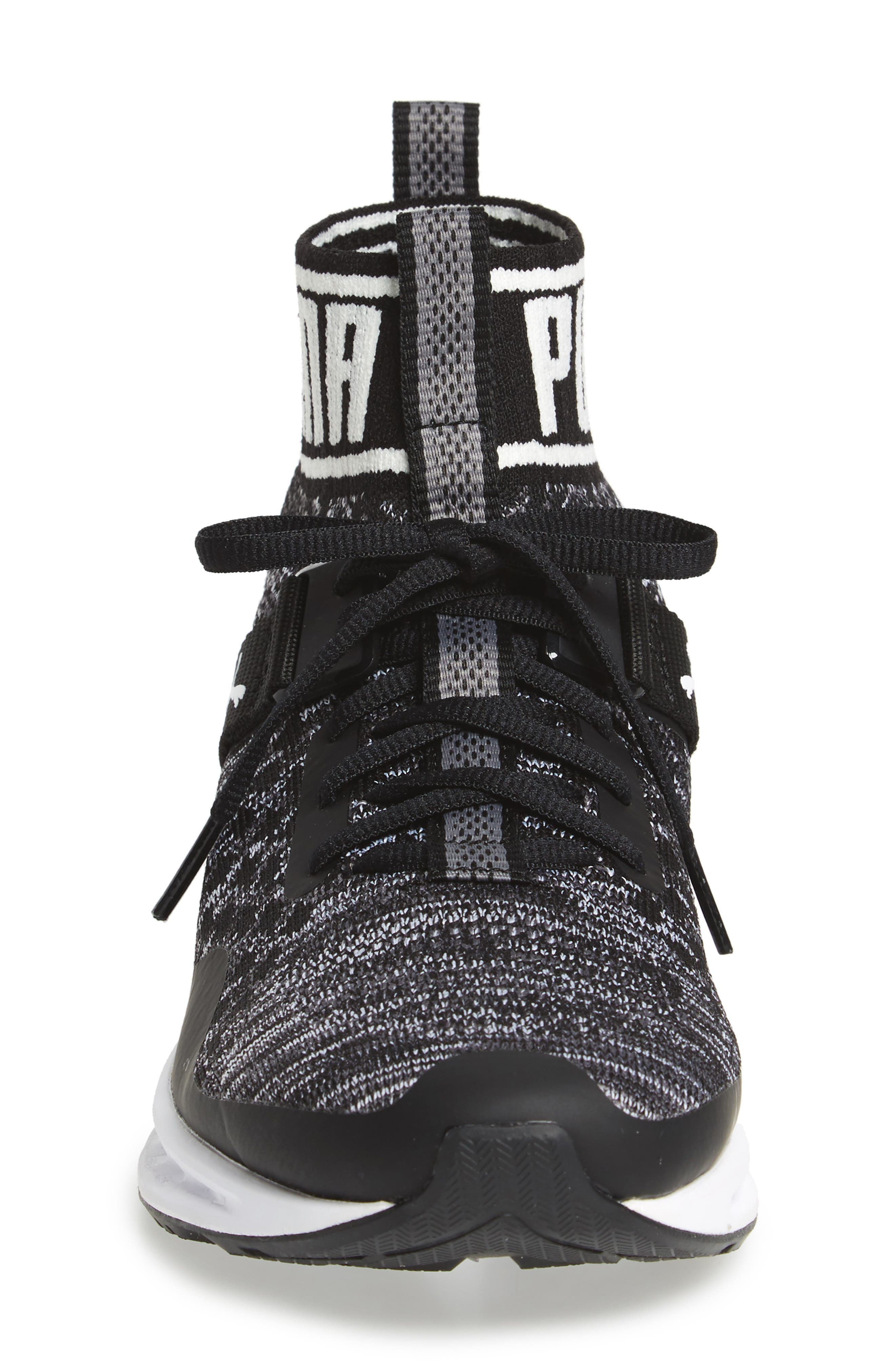Ignite Evoknit Sneaker,                             Alternate thumbnail 3, color,                             001