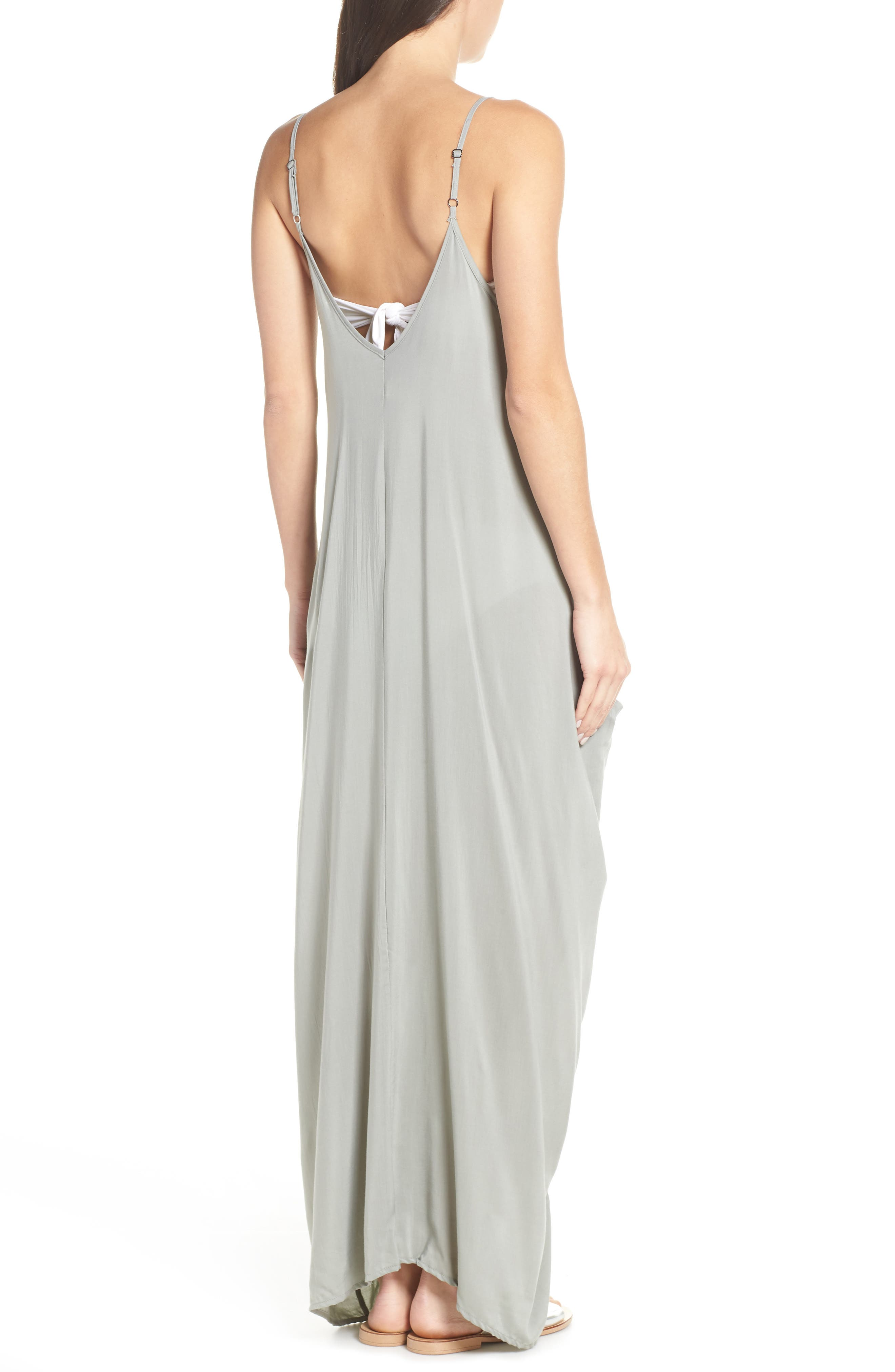 ELAN,                             V-Back Cover-Up Maxi Dress,                             Alternate thumbnail 2, color,                             SAGE