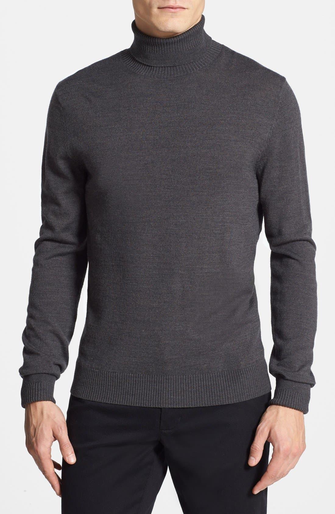 Merino Wool Turtleneck,                         Main,                         color,